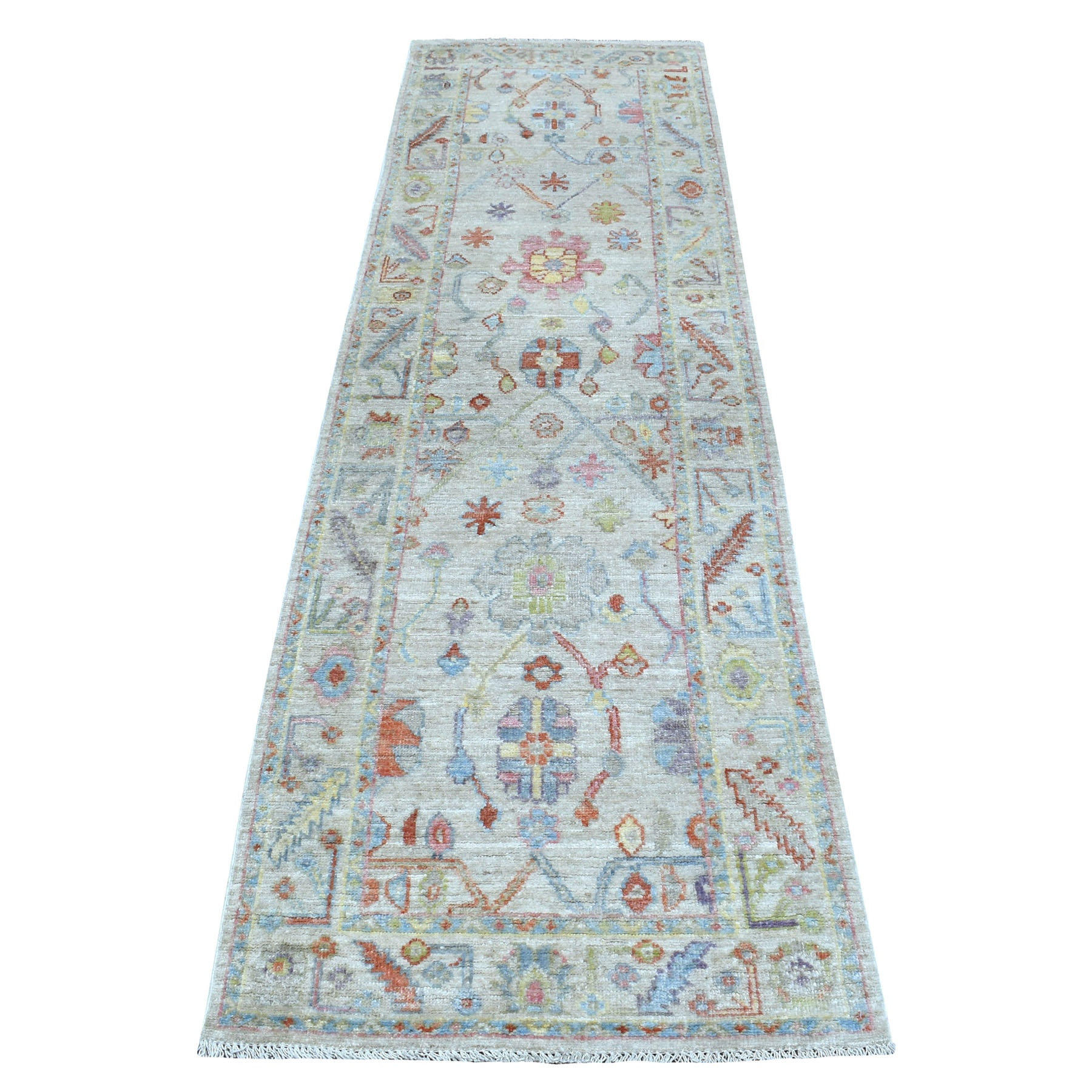Agra And Turkish Collection Hand Knotted Grey Rug No: 1111396