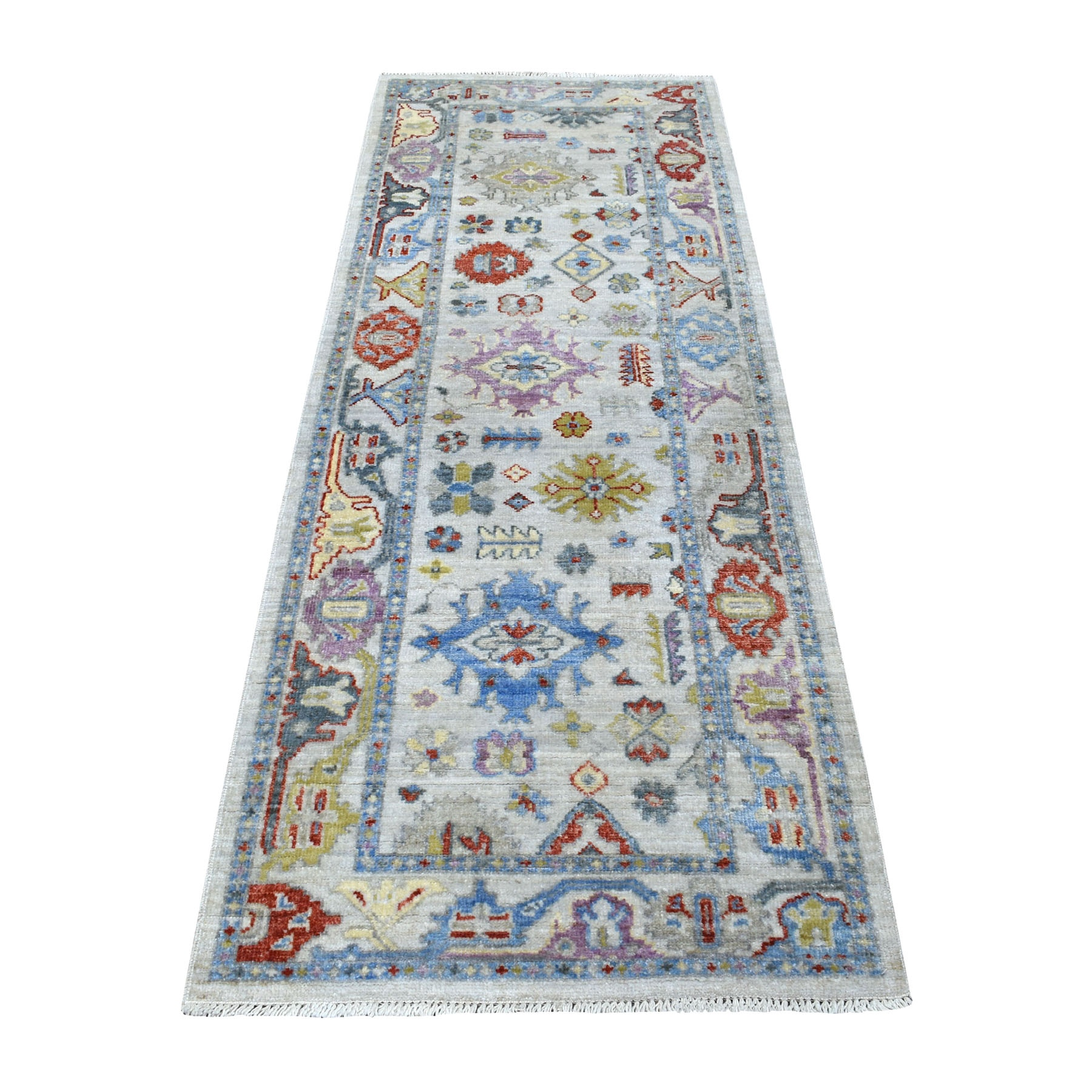 Agra And Turkish Collection Hand Knotted Grey Rug No: 1111496