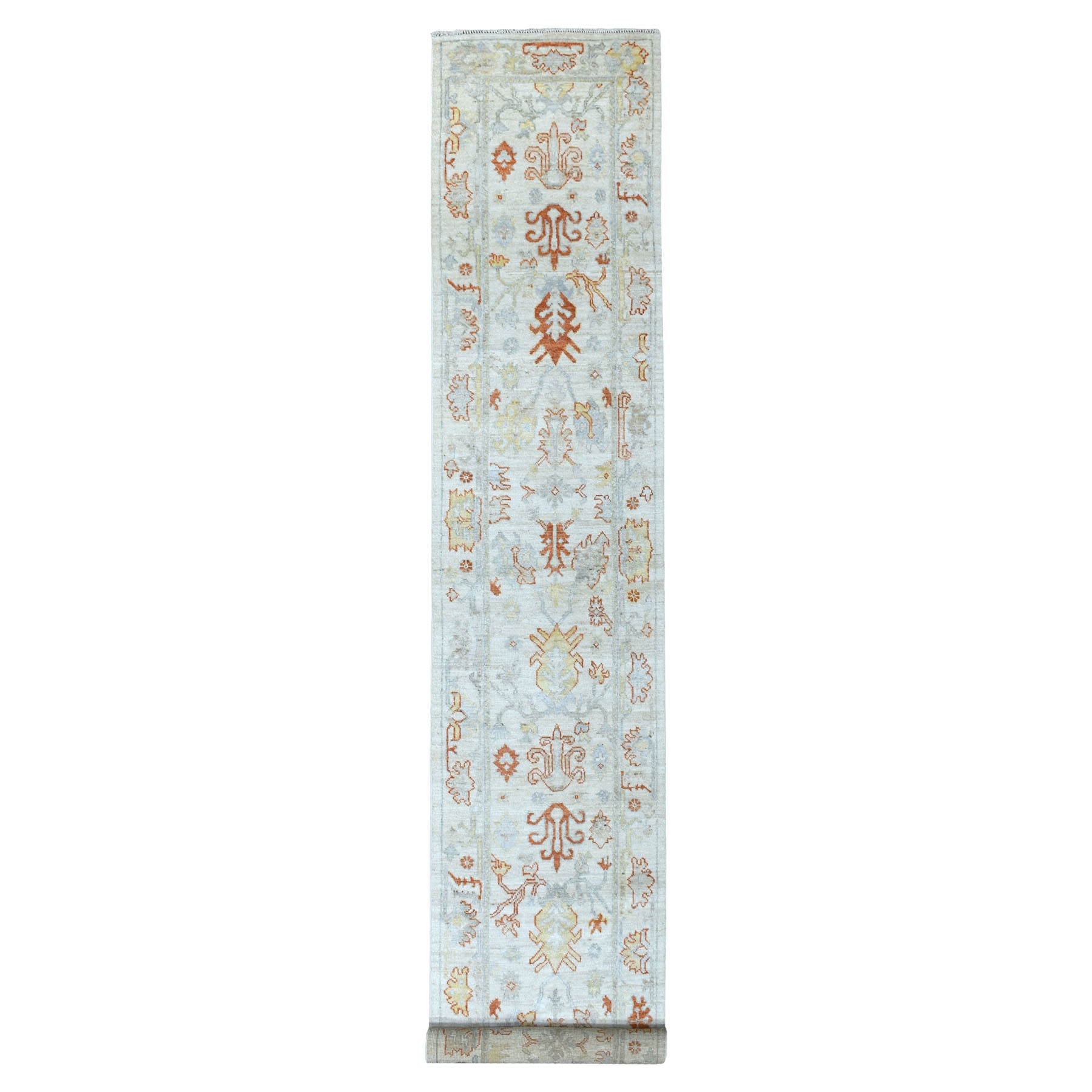 Agra And Turkish Collection Hand Knotted Ivory Rug No: 1111622