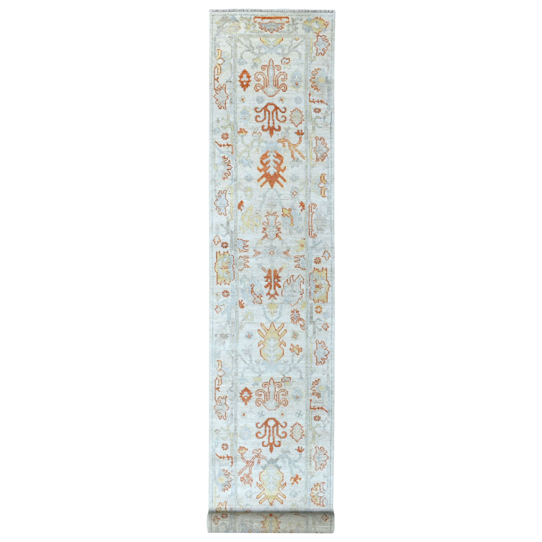 Agra And Turkish Collection Hand Knotted Ivory Rug No: 1111628