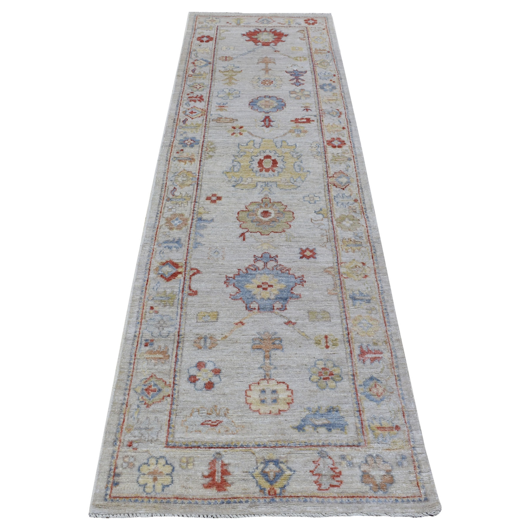 Agra And Turkish Collection Hand Knotted Grey Rug No: 1111636