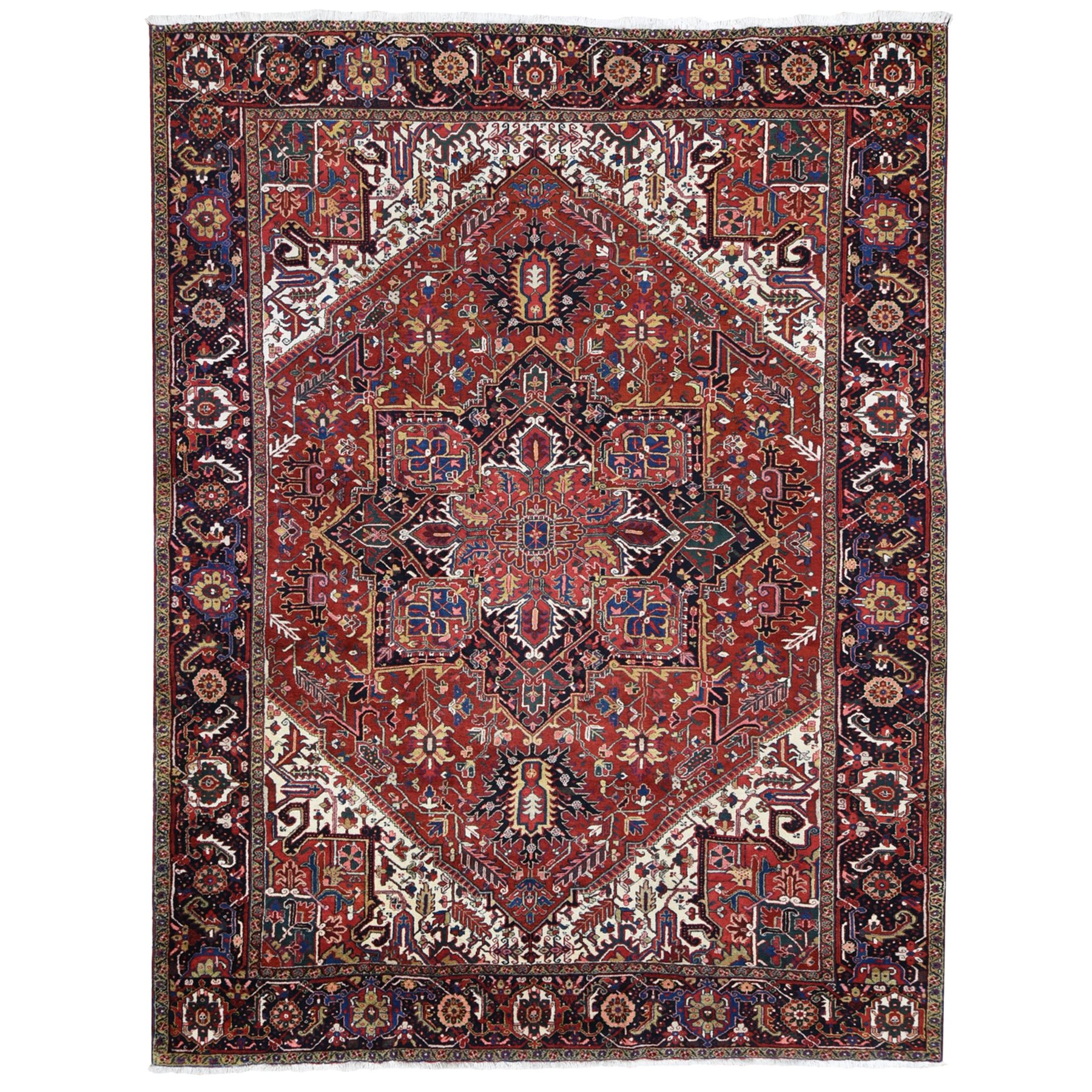 Serapi Heriz and Bakhshayesh Collection Hand Knotted Red Rug No: 1118878