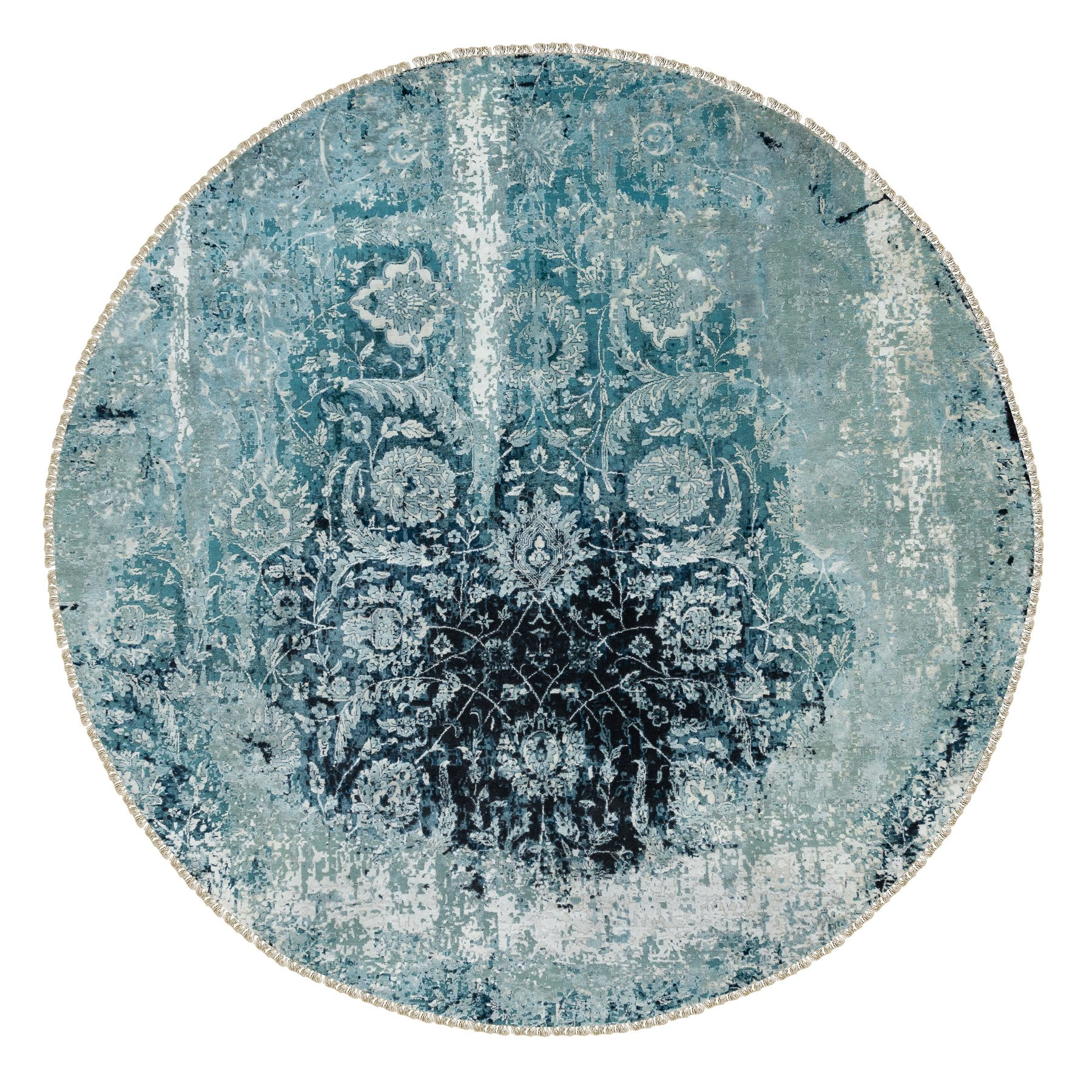 Transitional Hand Knotted Blue Rug No: 1117098