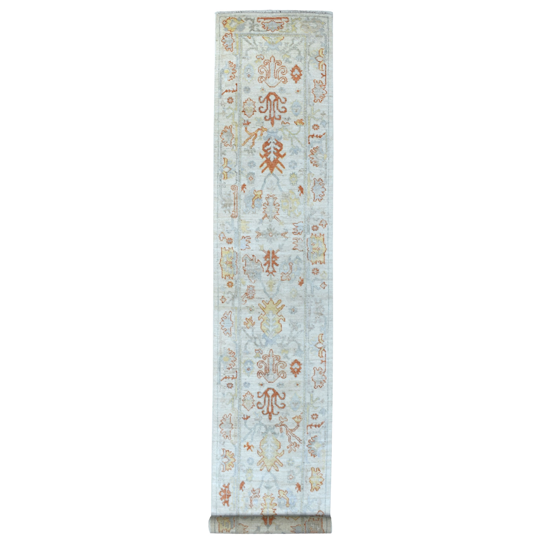 Agra And Turkish Collection Hand Knotted Ivory Rug No: 1111772