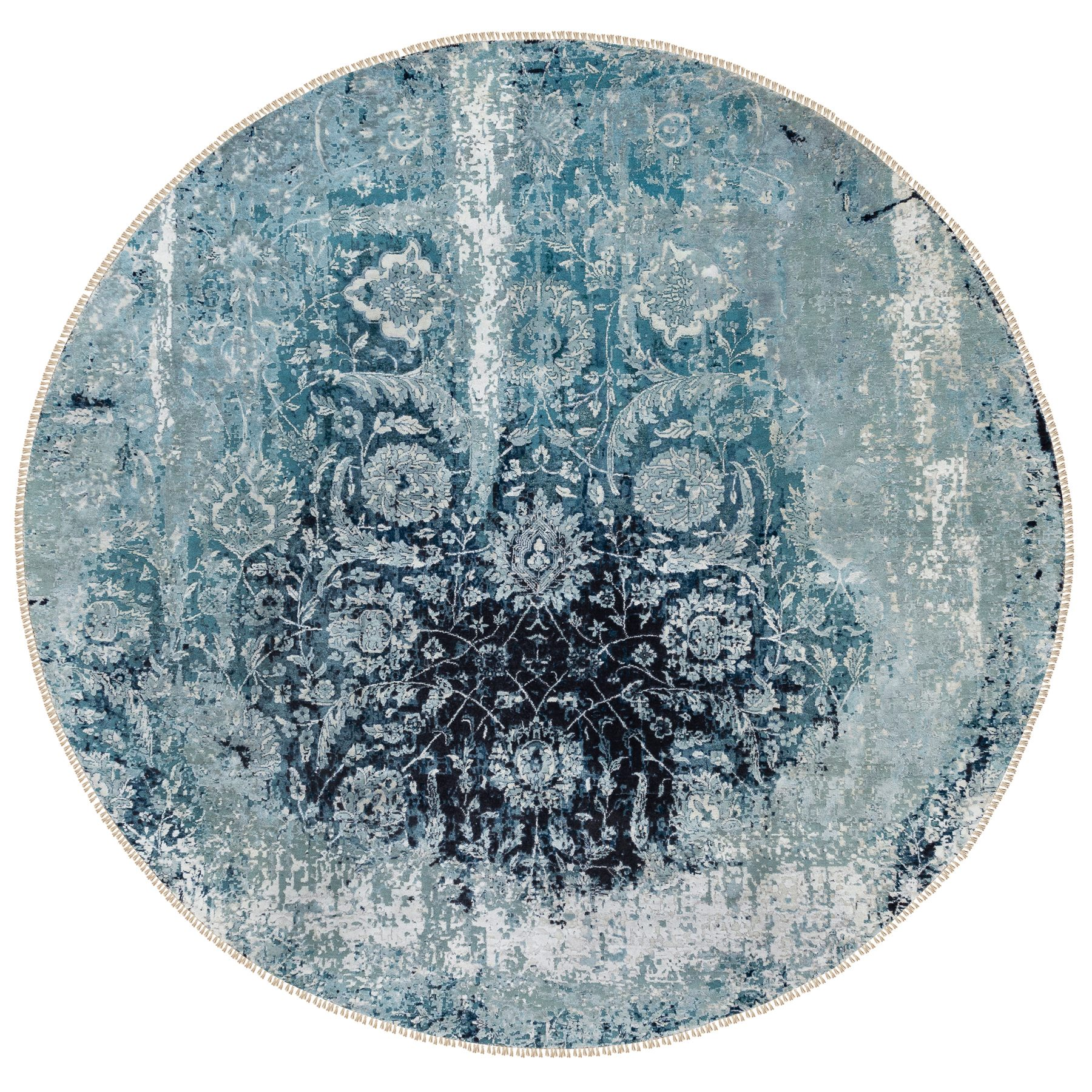 Transitional Hand Knotted Blue Rug No: 1117240