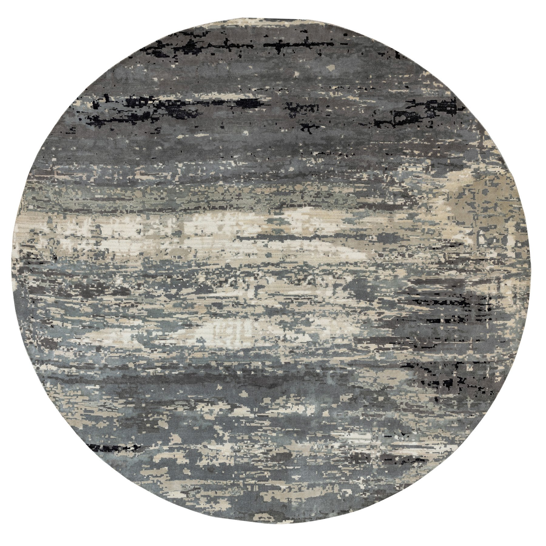 Mid Century Modern Collection Hand Knotted Grey Rug No: 1117120