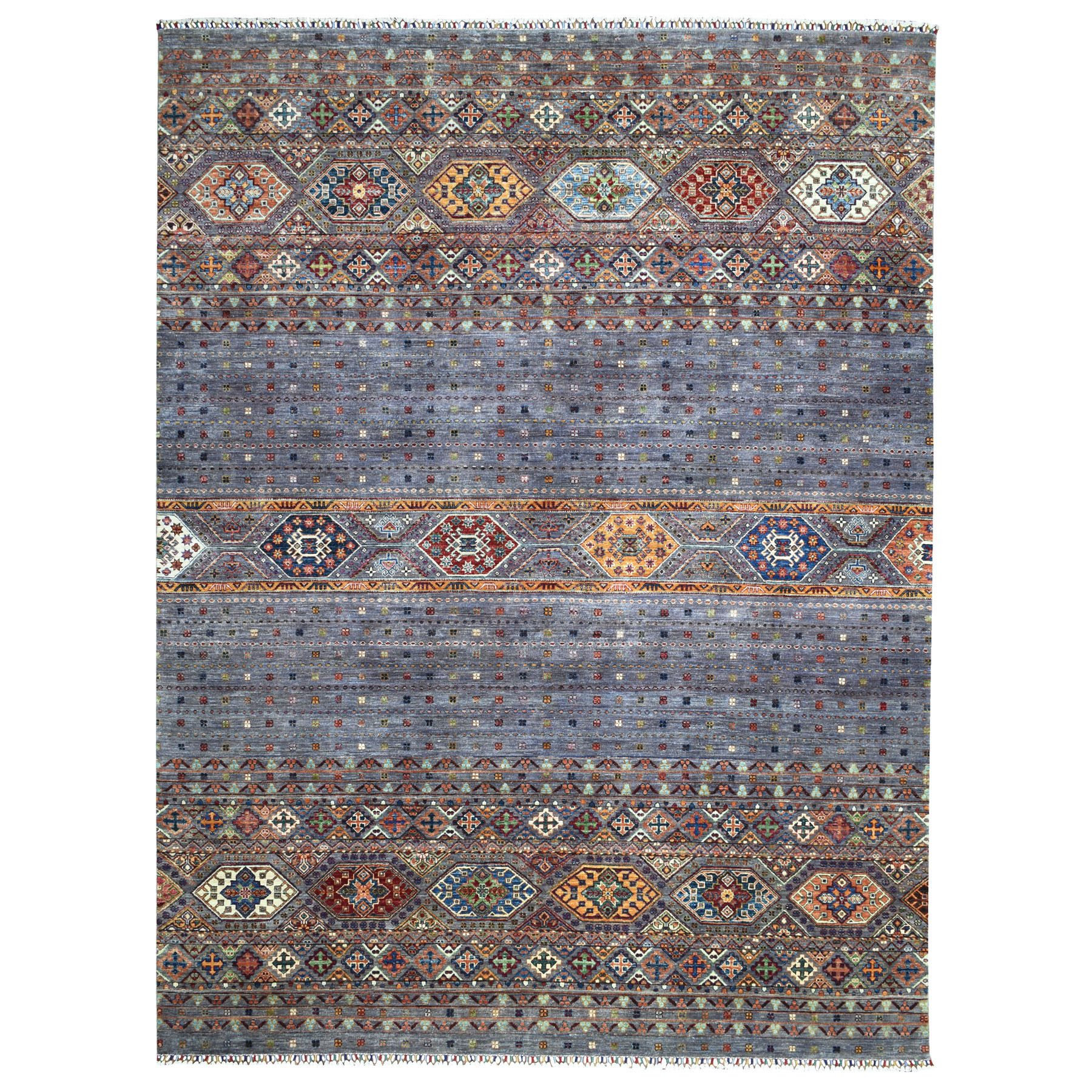 Caucasian Collection Hand Knotted Purple Rug No: 1111794