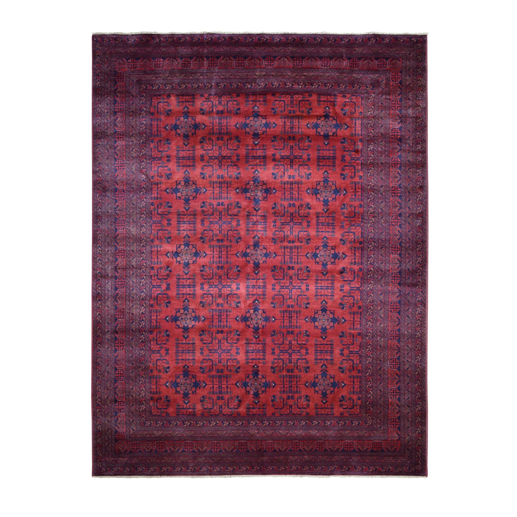 Nomadic And Village Collection Hand Knotted Red Rug No: 1110690