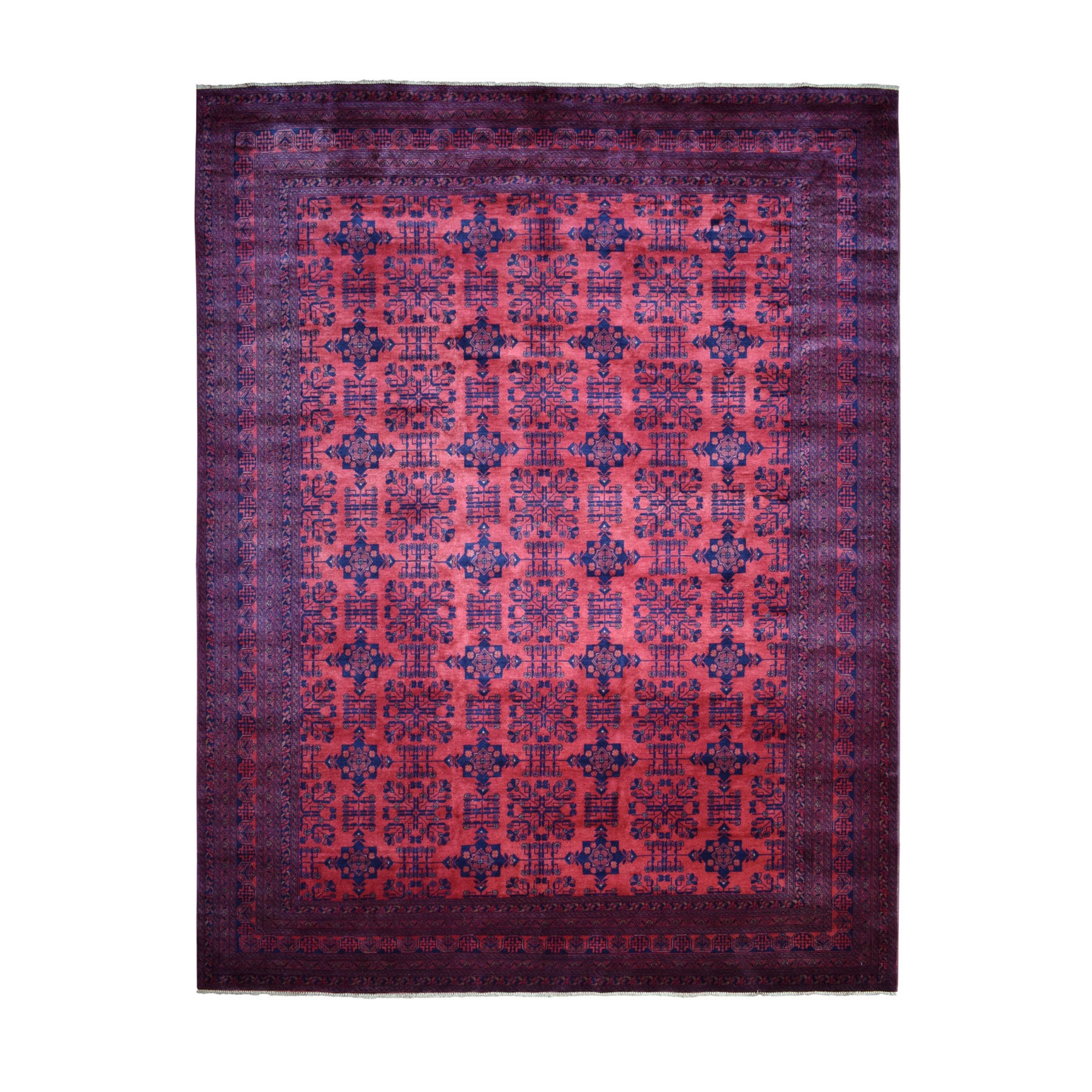 Nomadic And Village Collection Hand Knotted Red Rug No: 1110692