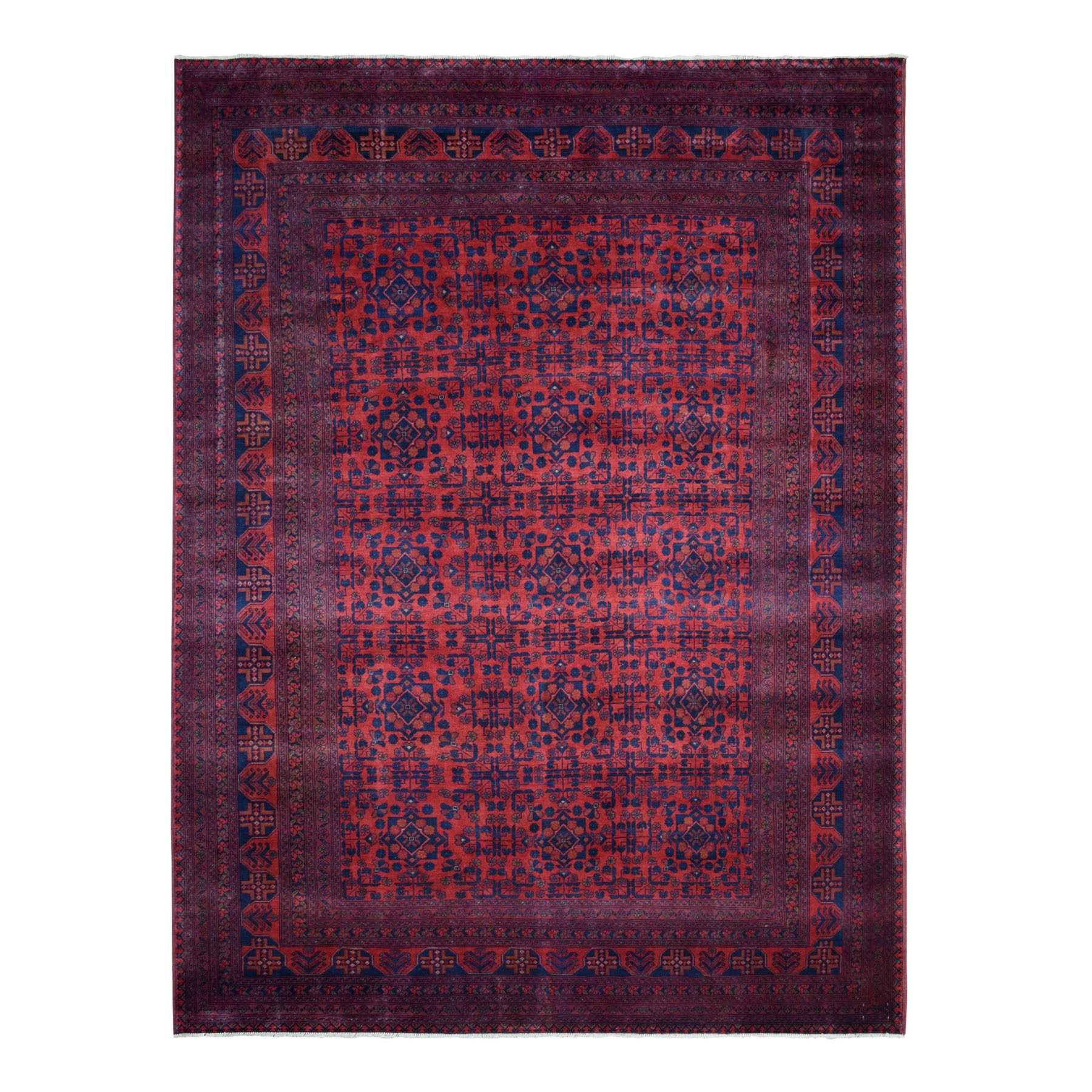 Nomadic And Village Collection Hand Knotted Red Rug No: 1110702