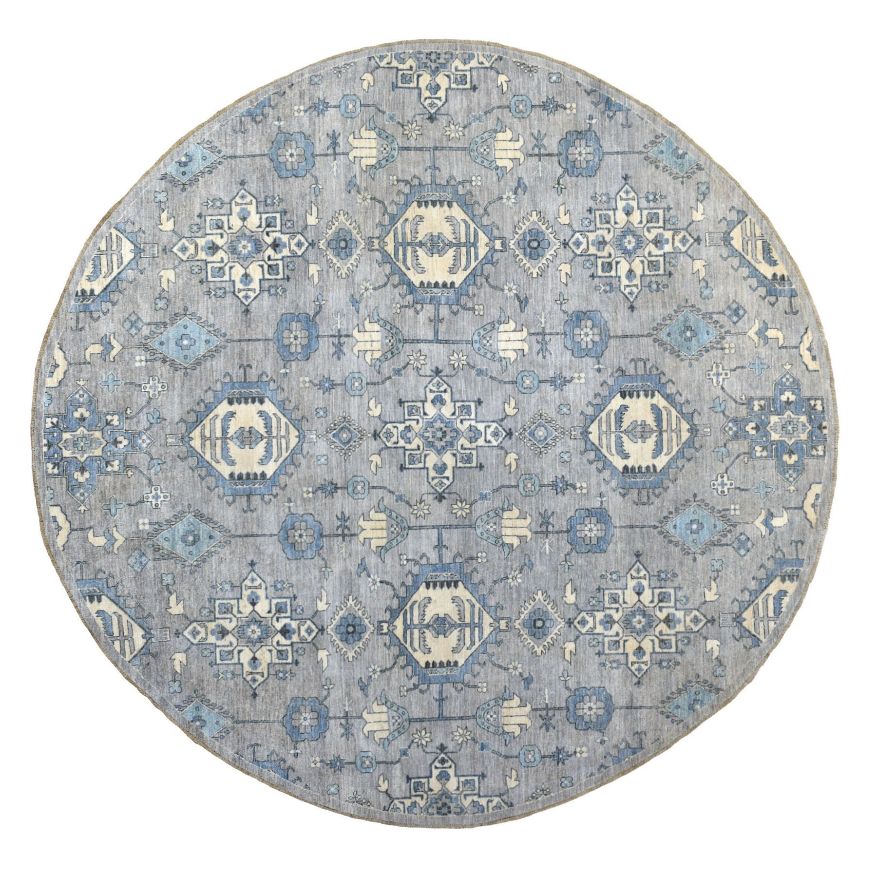 Agra And Turkish Collection Hand Knotted Grey Rug No: 1111418