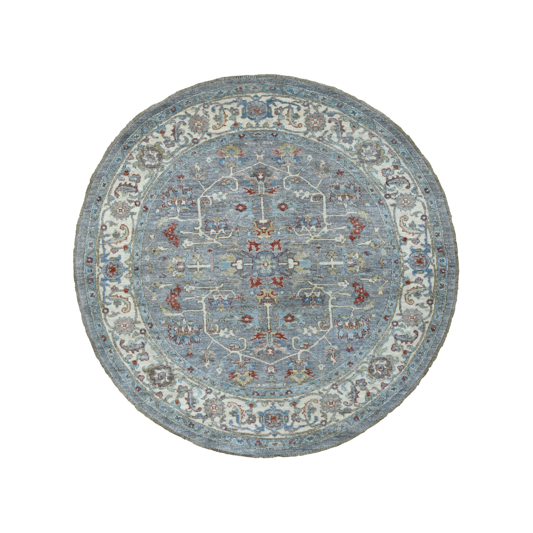 Agra And Turkish Collection Hand Knotted Grey Rug No: 1111422
