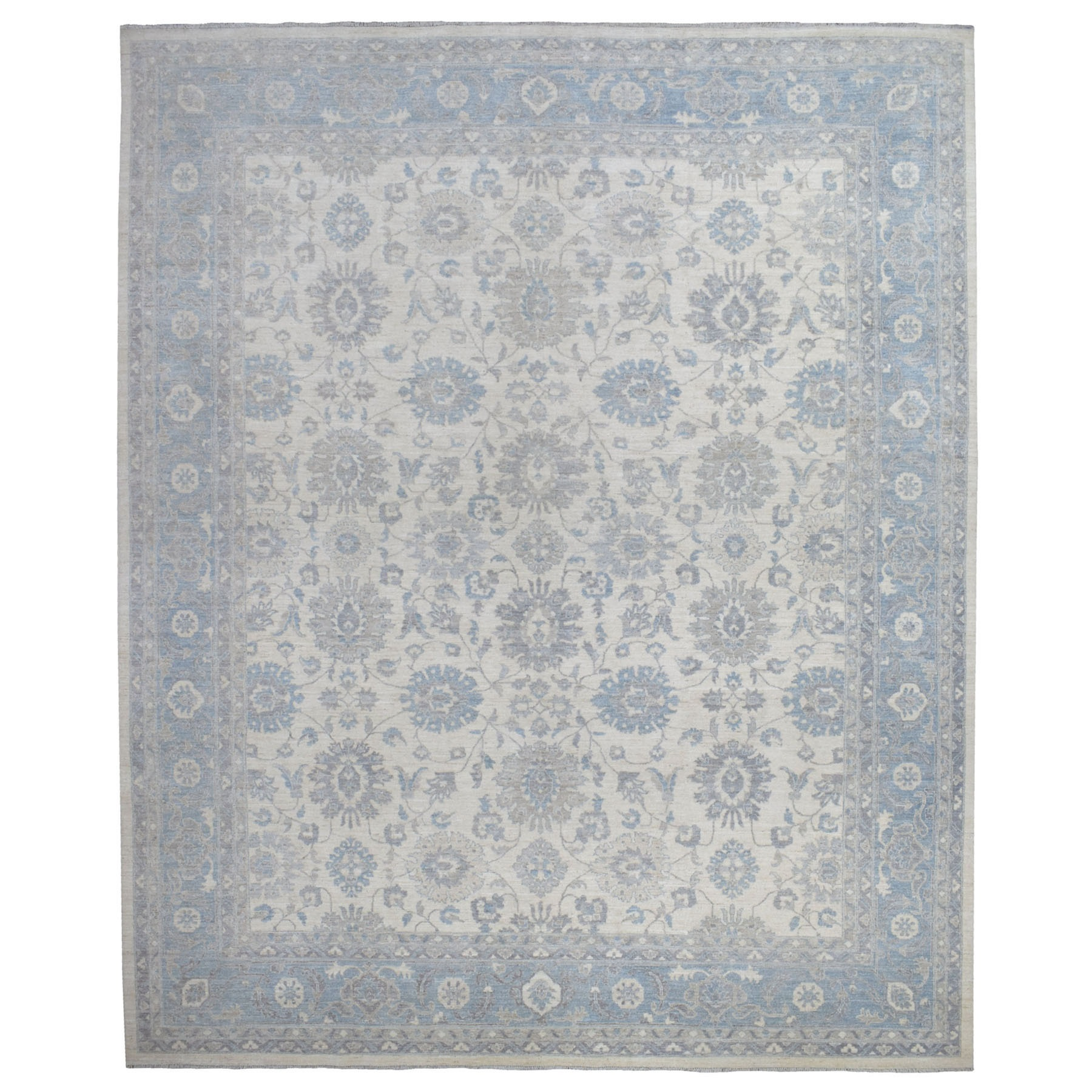 Agra And Turkish Collection Hand Knotted Ivory Rug No: 1111528