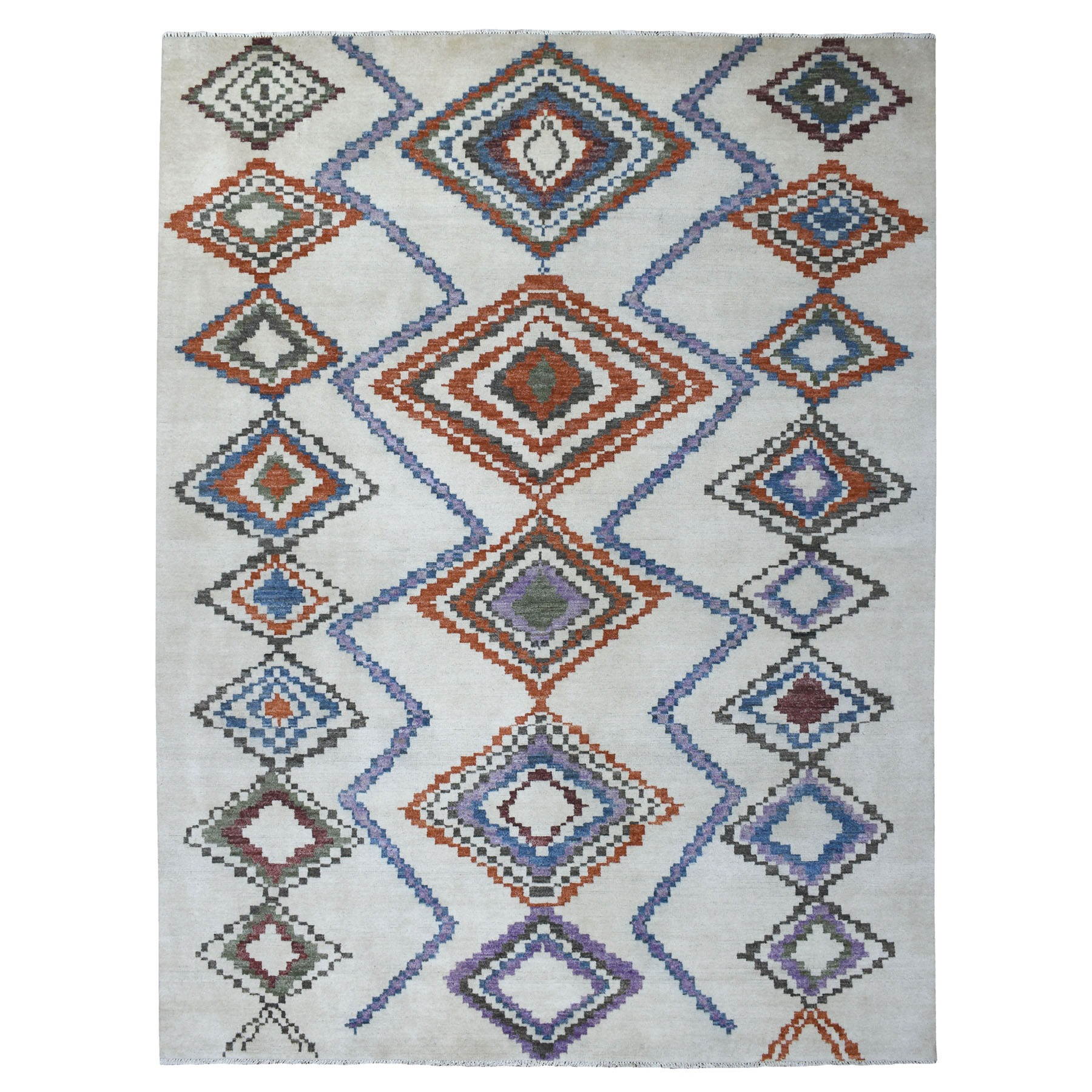 Nomadic And Village Collection Hand Knotted Ivory Rug No: 1111570