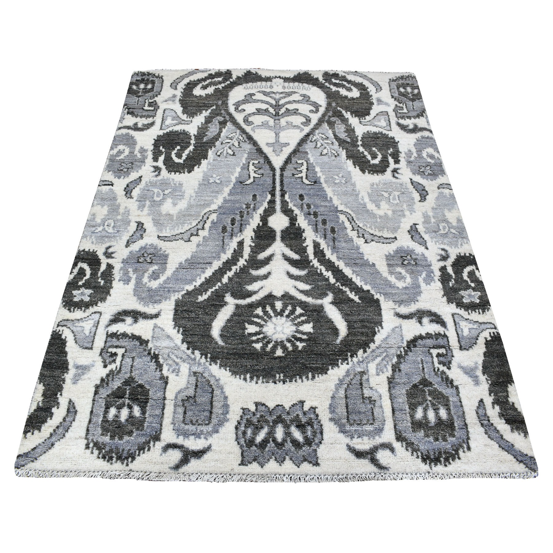 Nomadic And Village Collection Hand Knotted Grey Rug No: 1111696