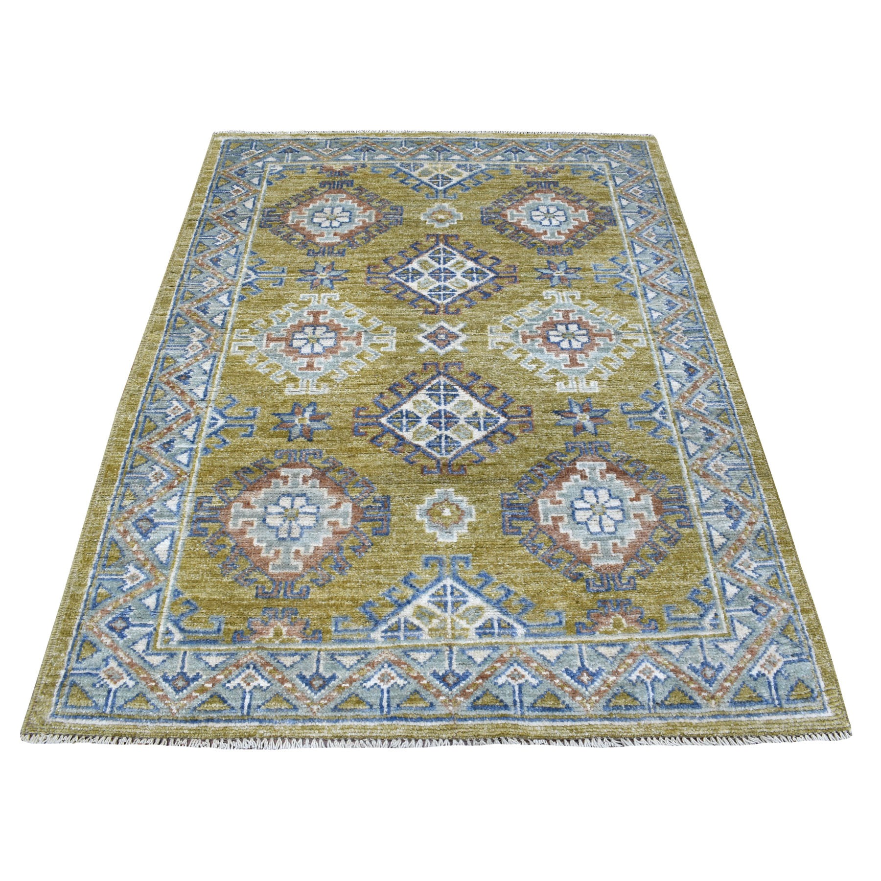 Nomadic And Village Collection Hand Knotted Yellow Rug No: 1111910