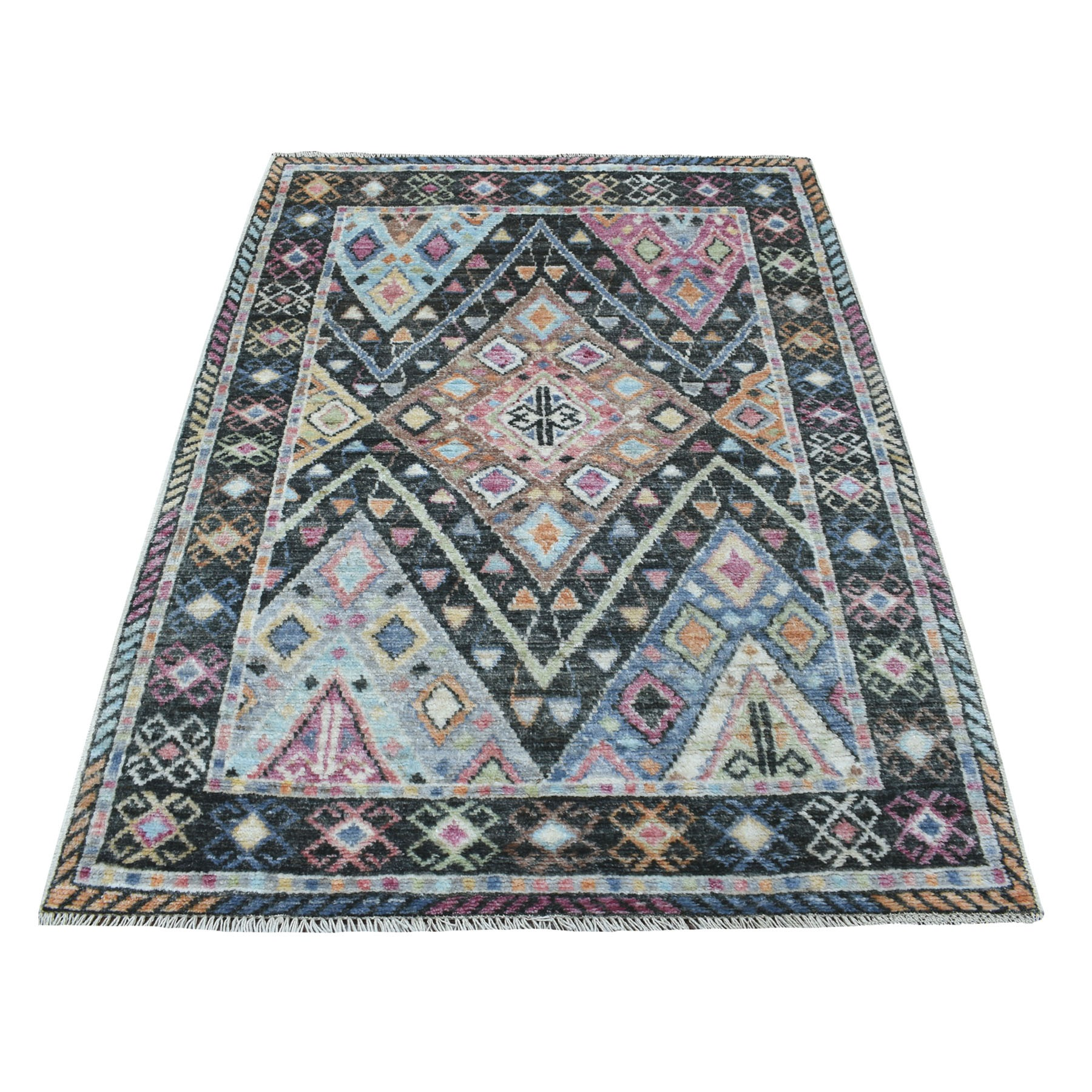 Nomadic And Village Collection Hand Knotted Black Rug No: 1111914