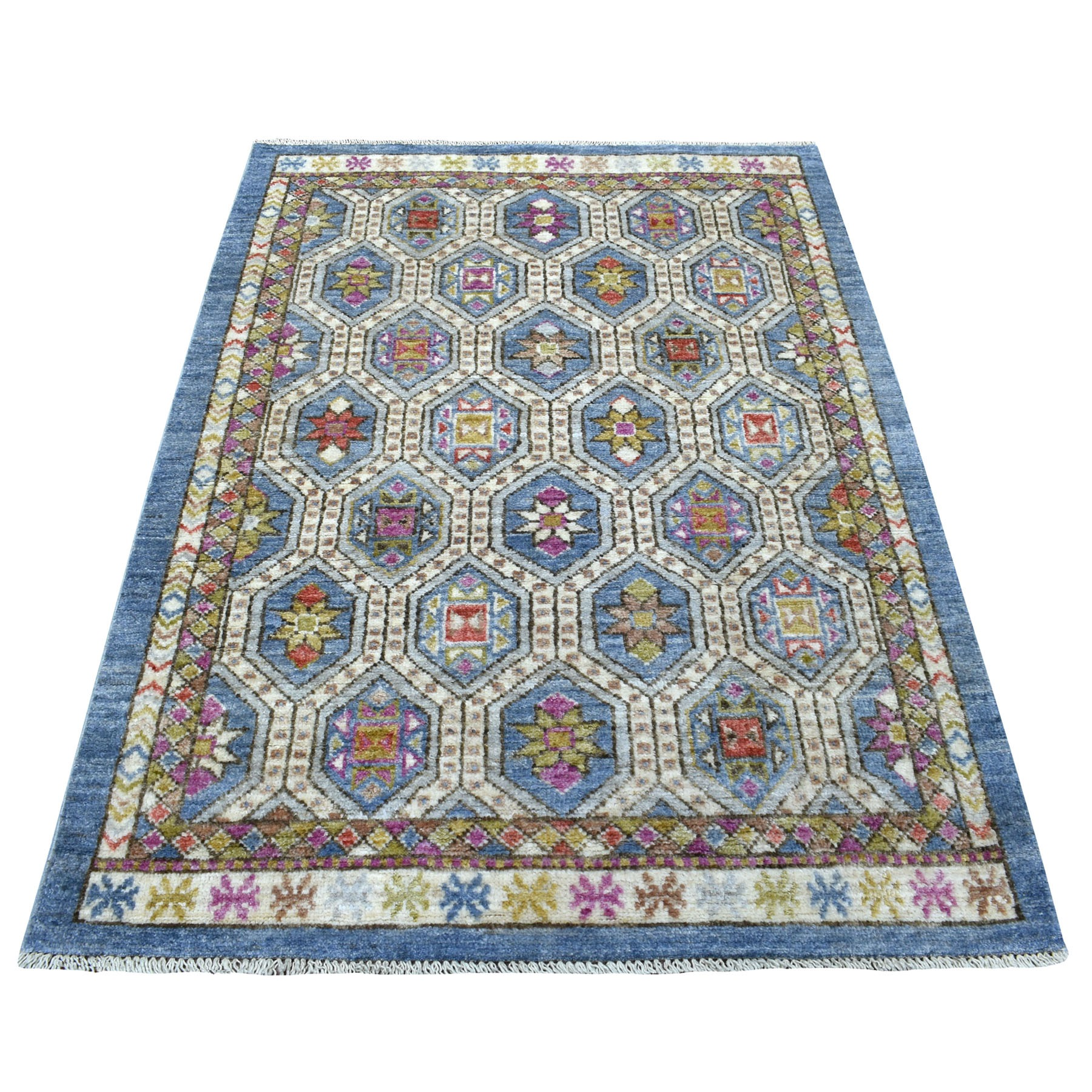 Nomadic And Village Collection Hand Knotted Blue Rug No: 1111950