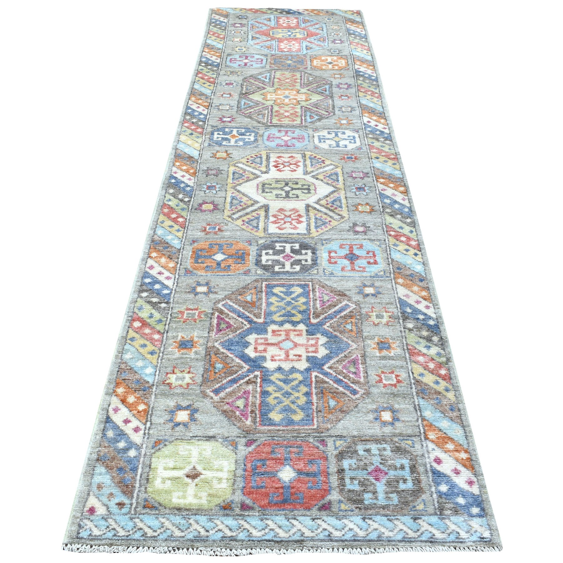 Nomadic And Village Collection Hand Knotted Grey Rug No: 1111968