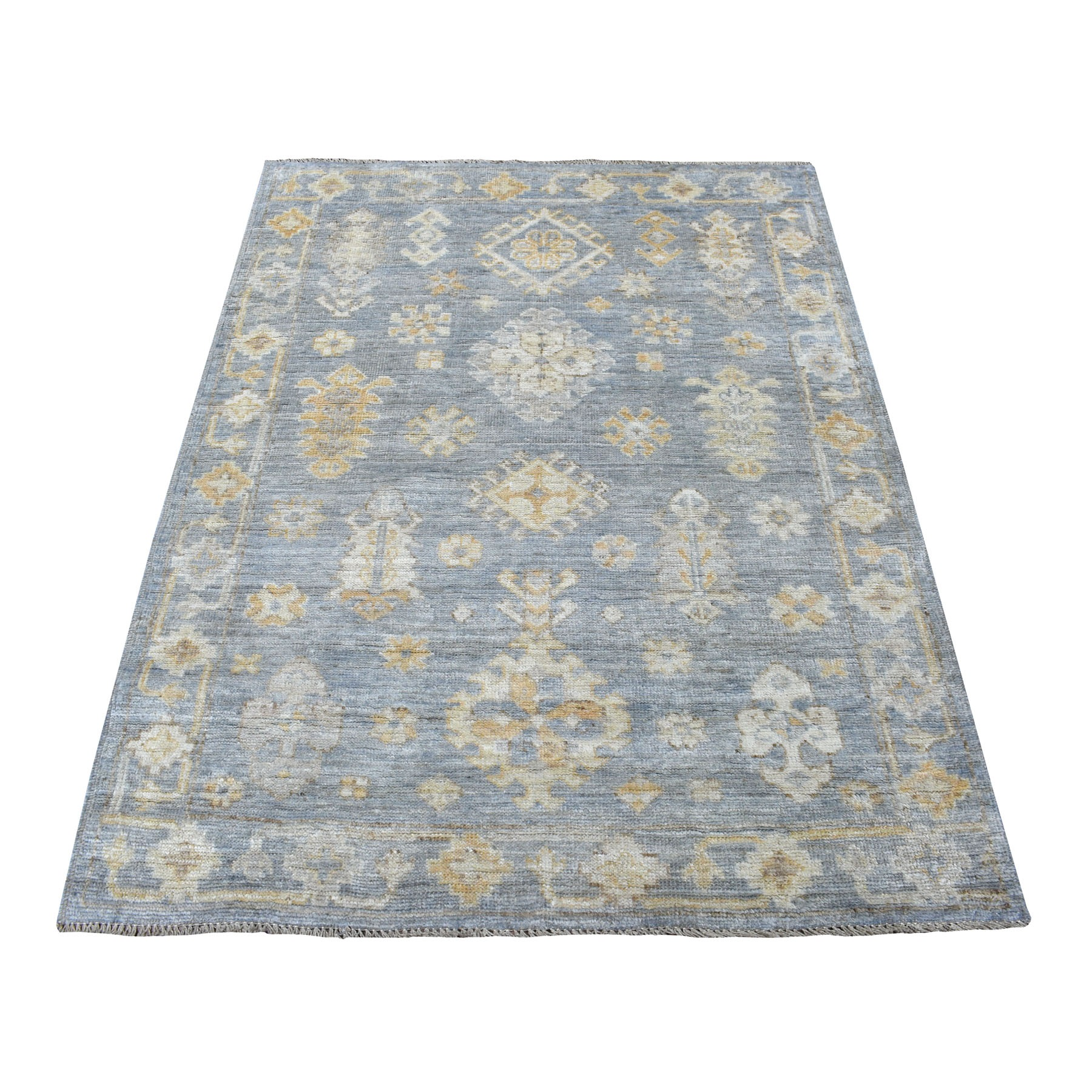 Agra And Turkish Collection Hand Knotted Blue Rug No: 1110960