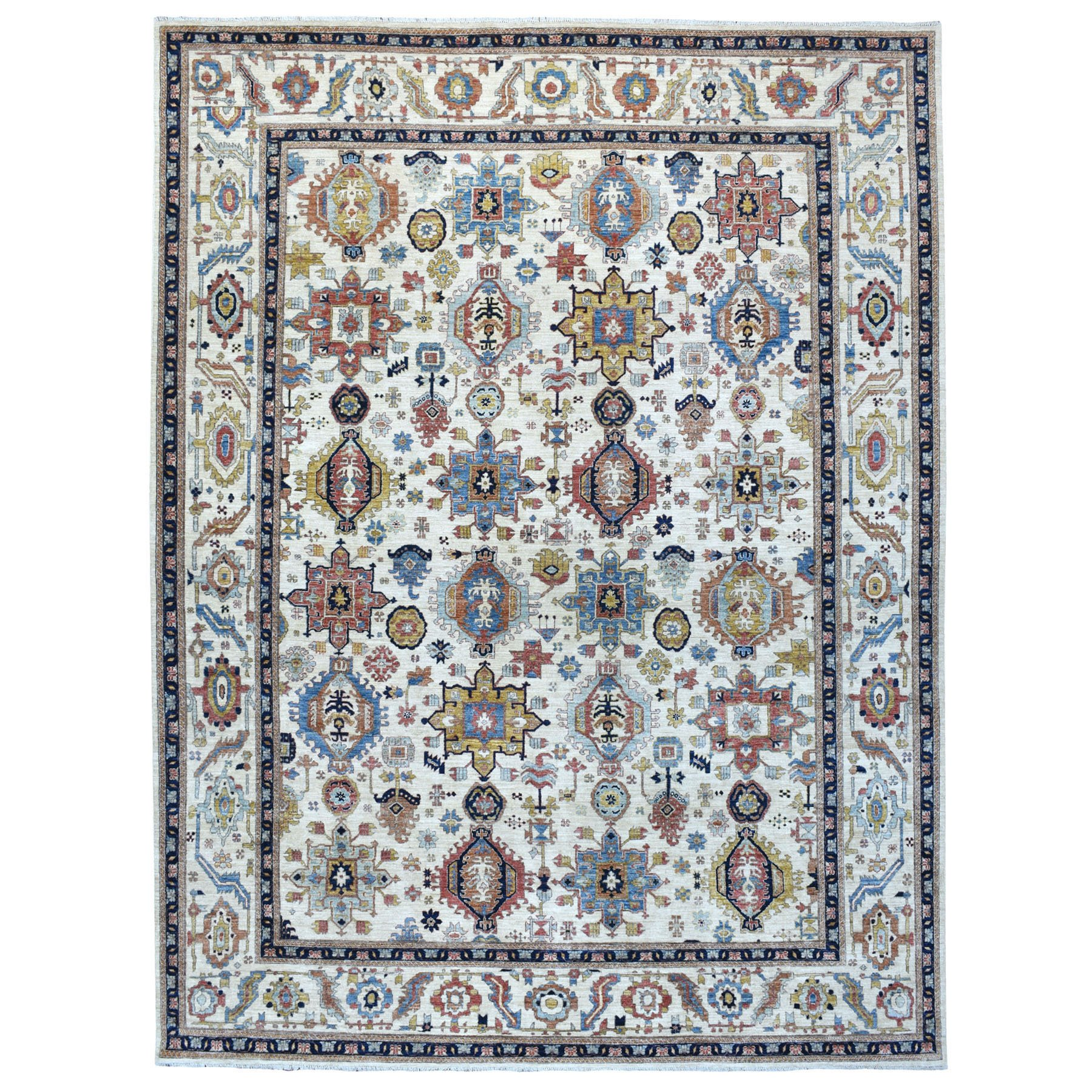 Nomadic And Village Collection Hand Knotted Ivory Rug No: 1111886
