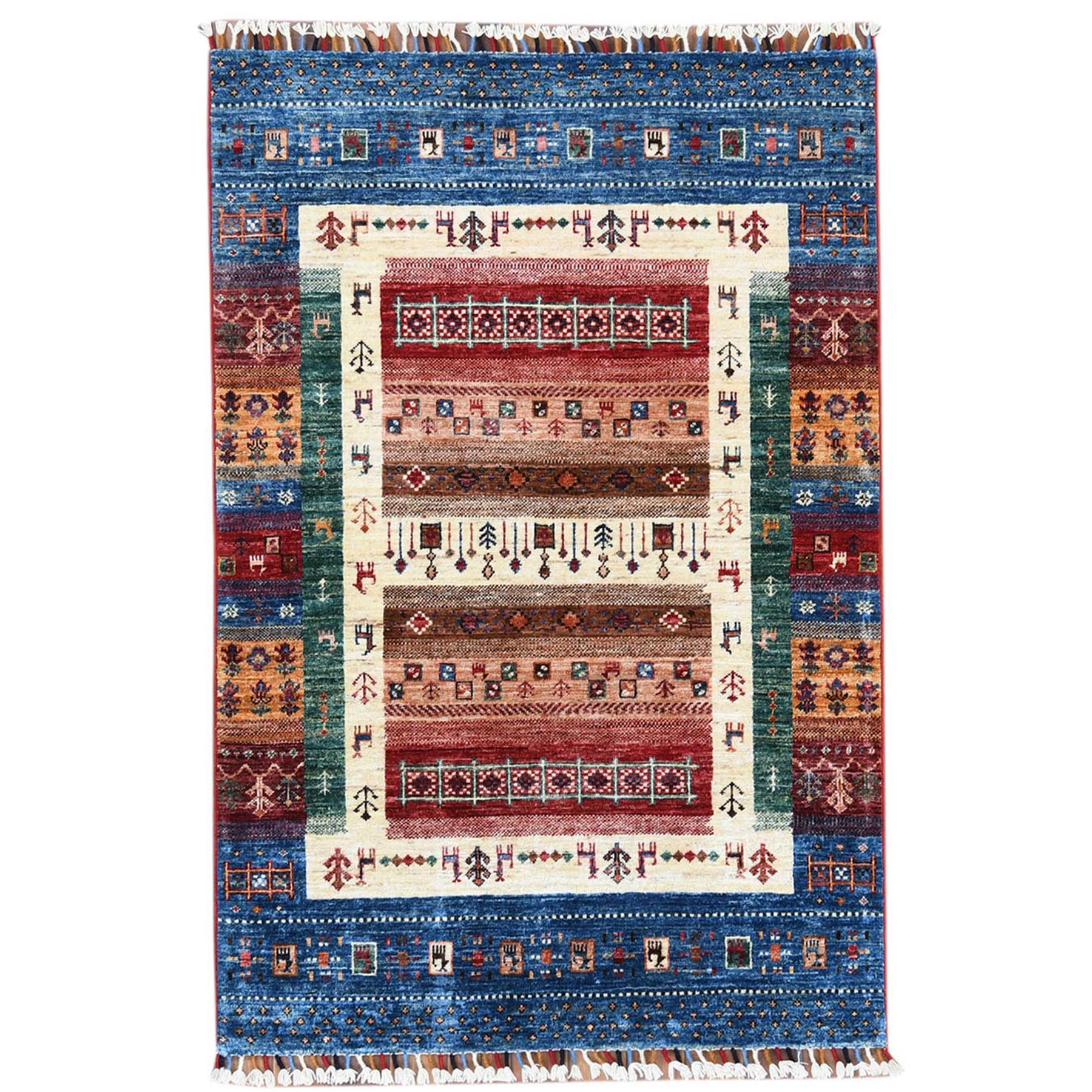 Caucasian Collection Hand Knotted Red Rug No: 1120534