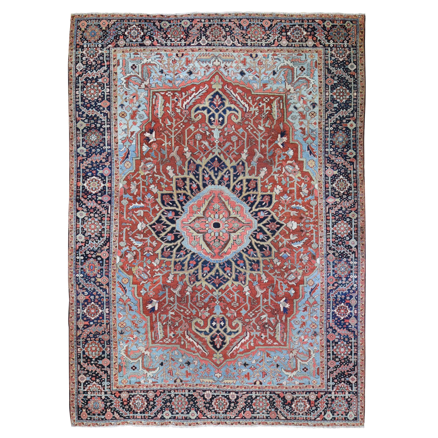Antique Collection Hand Knotted Red Rug No: 1118946