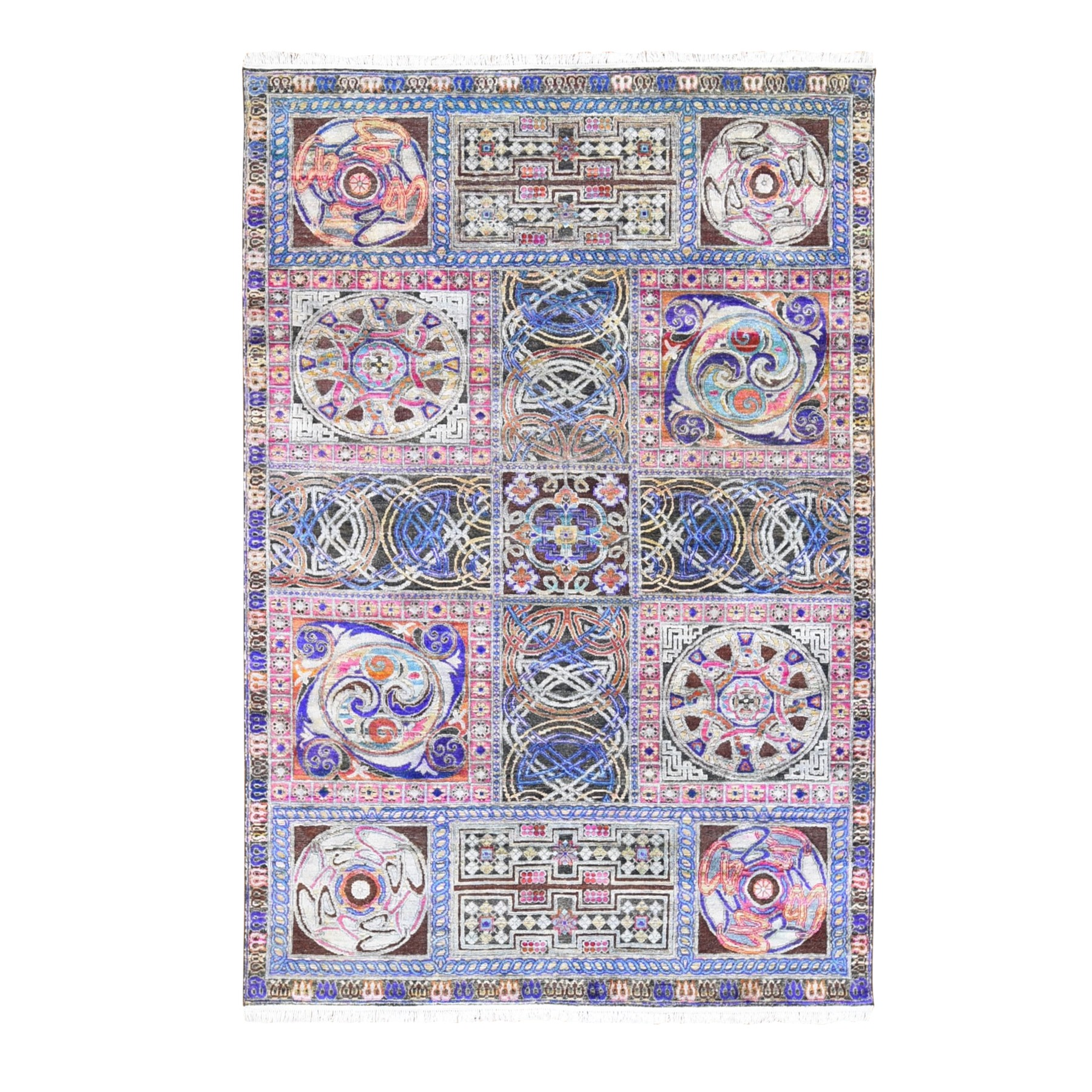 William Morris And Victorian Collection Hand Knotted Blue Rug No: 1118960