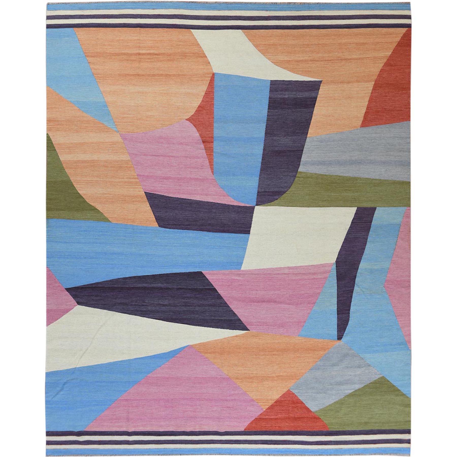 Fine Kilim Collection Hand Woven Multicolored Rug No: 1120230