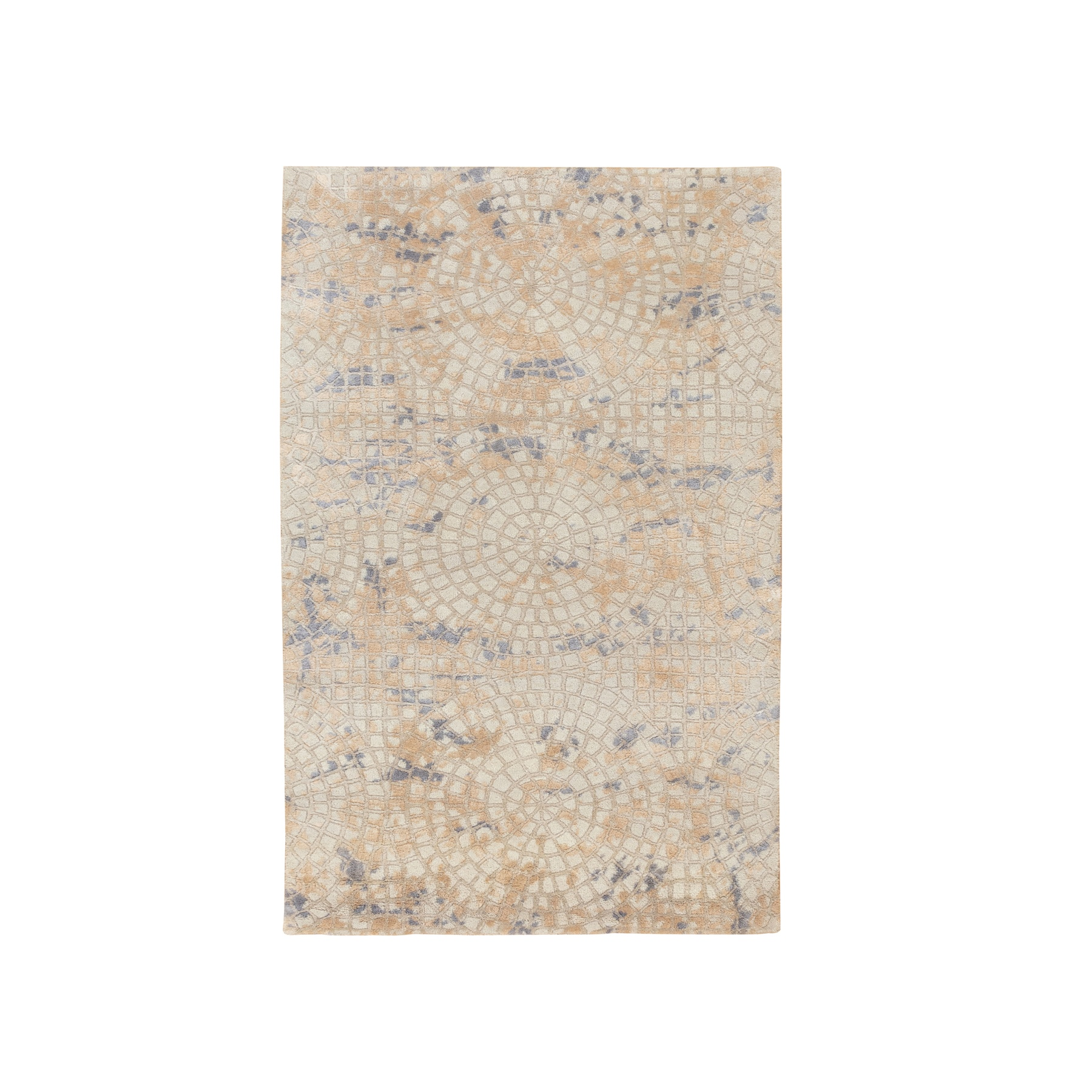 Mid Century Modern Collection Hand Knotted Ivory Rug No: 1117274