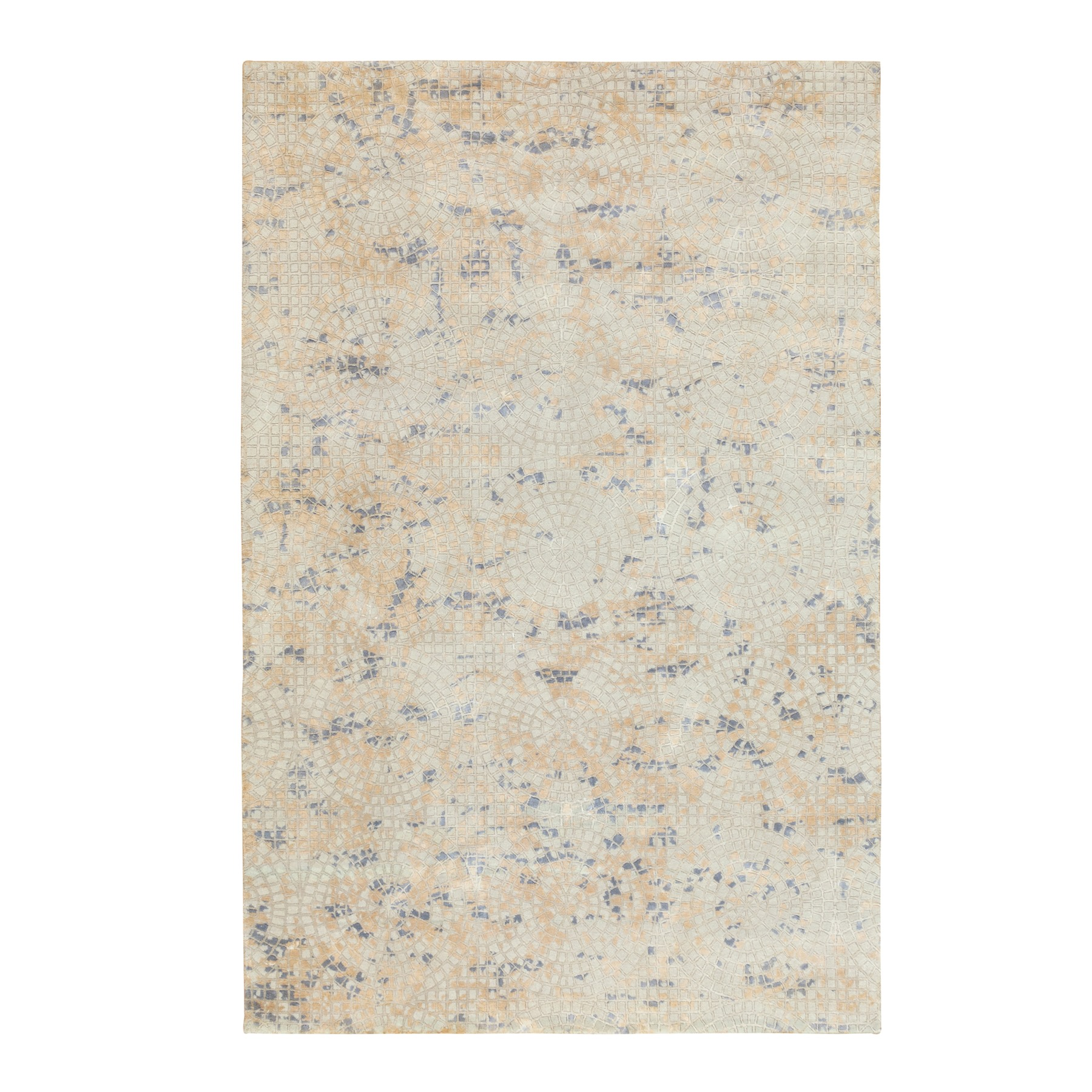 Mid Century Modern Collection Hand Knotted Ivory Rug No: 1117290