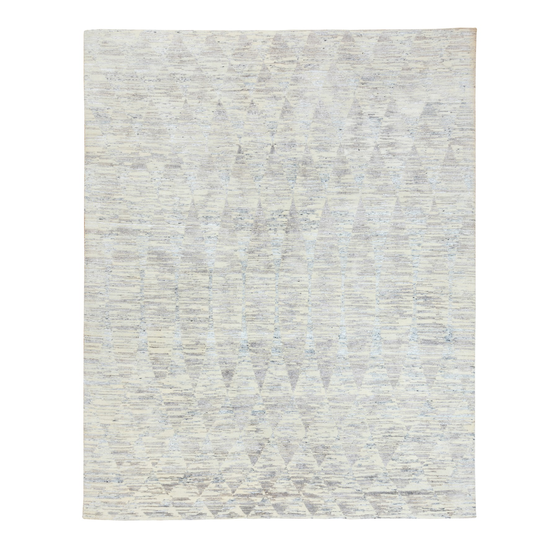 Mid Century Modern Collection Hand Knotted Ivory Rug No: 1117214
