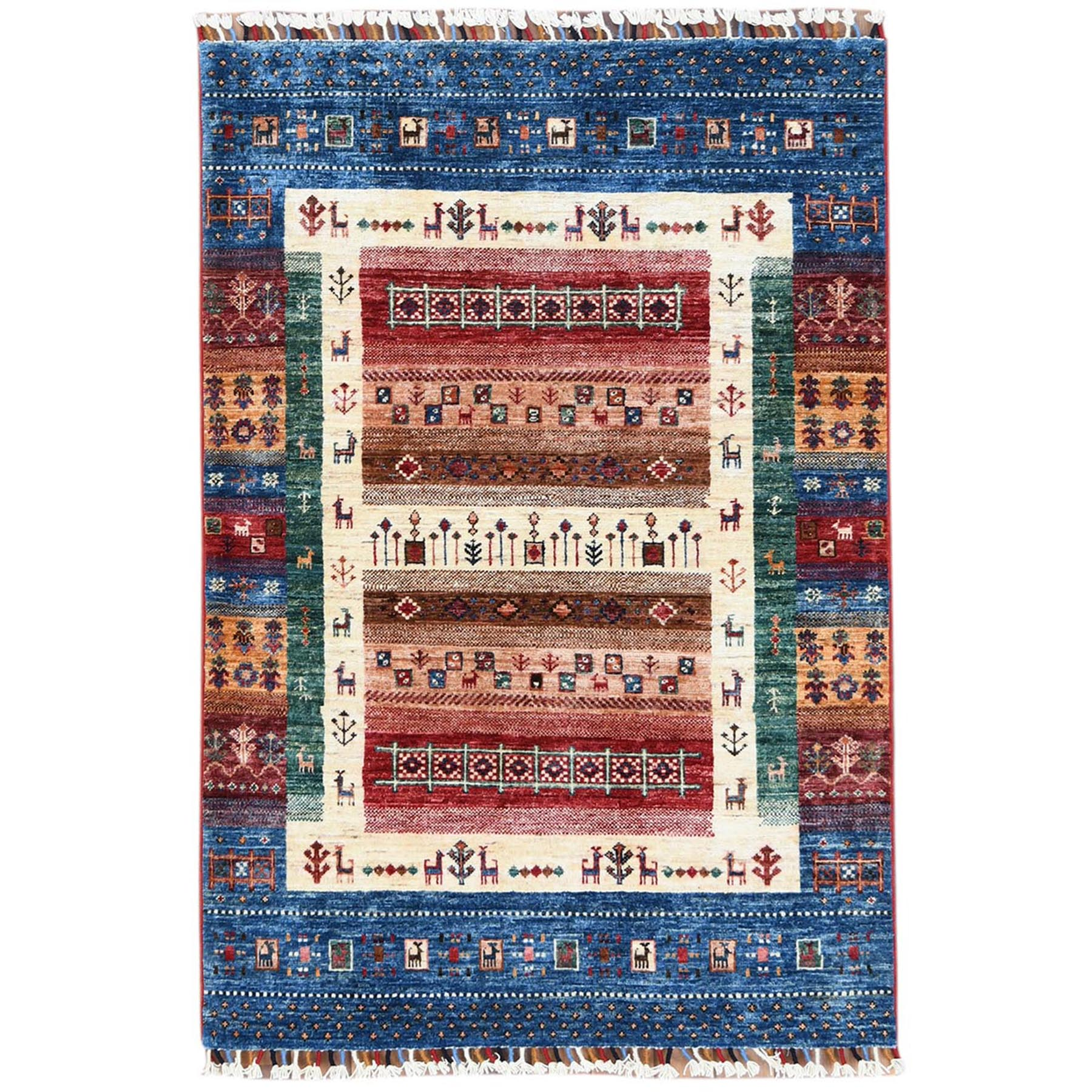 Caucasian Collection Hand Knotted Red Rug No: 1120536