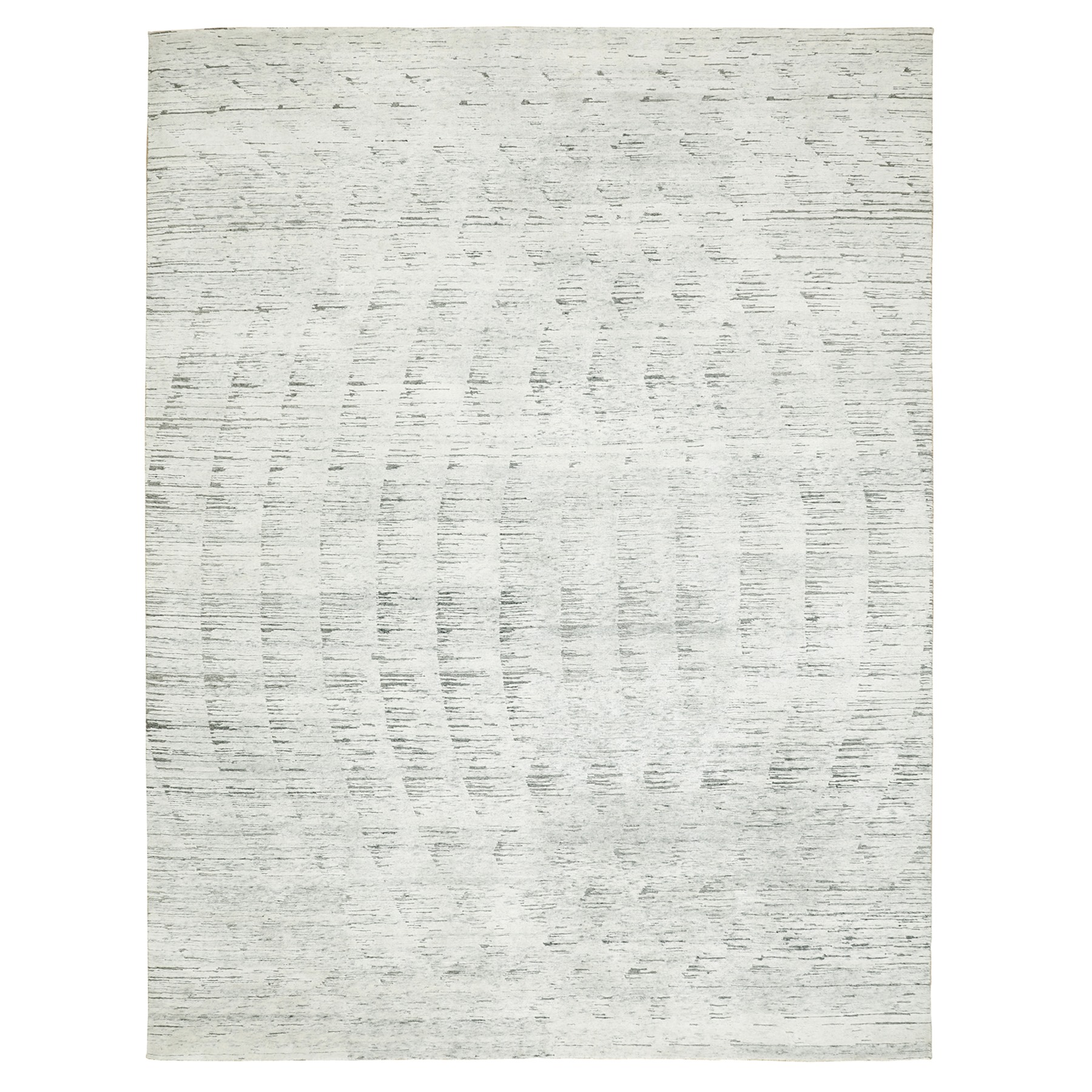 Mid Century Modern Collection Hand Knotted Ivory Rug No: 1117220