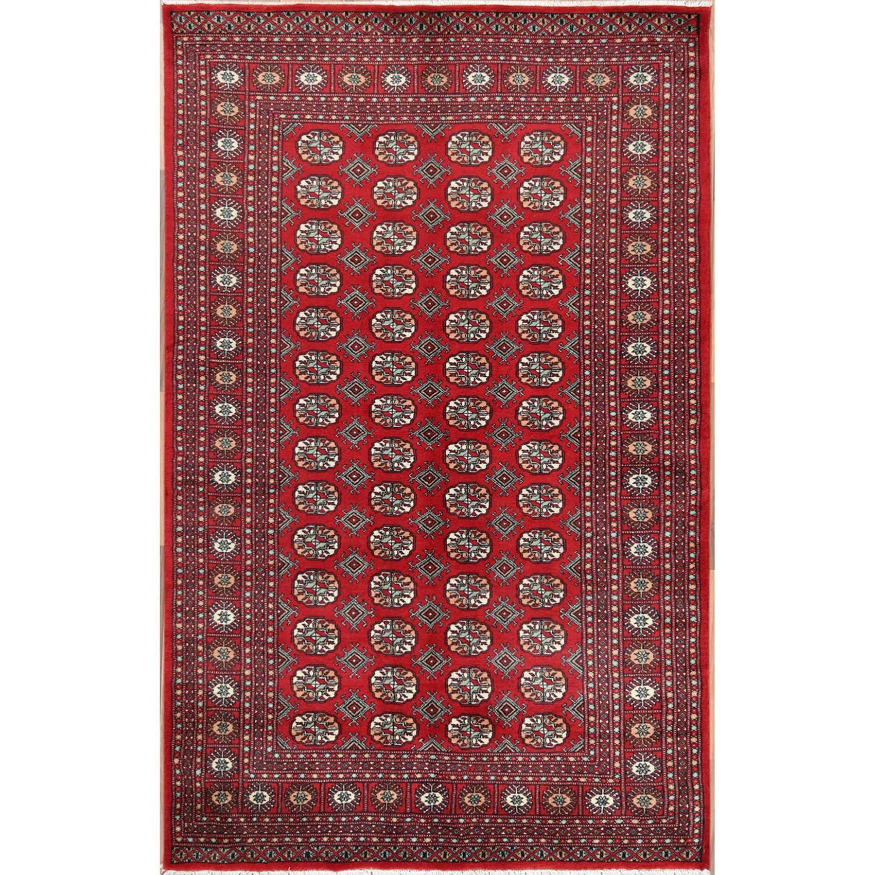 Nomadic And Village Collection Hand Knotted Red Rug No: 1115978