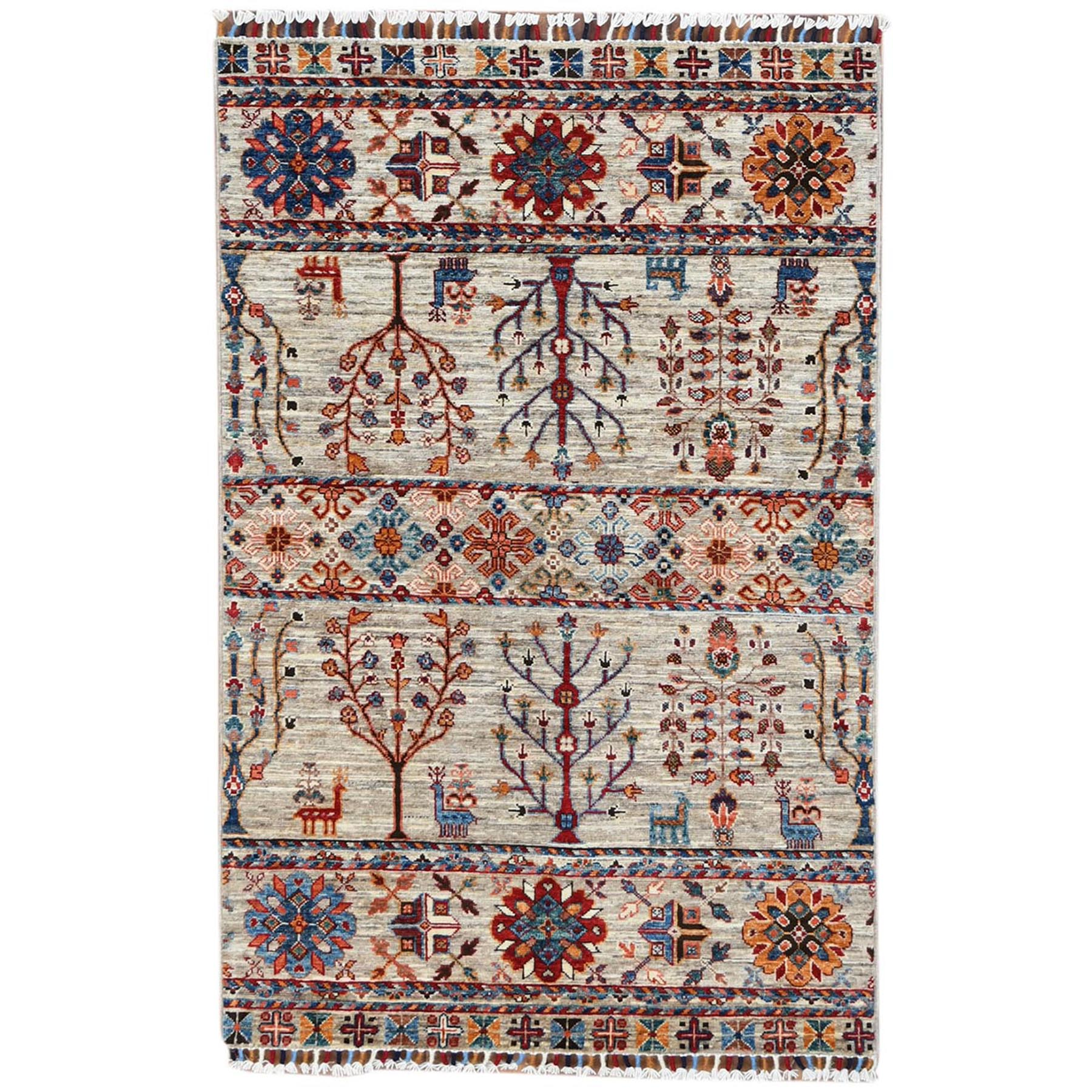 Caucasian Collection Hand Knotted Grey Rug No: 1120512