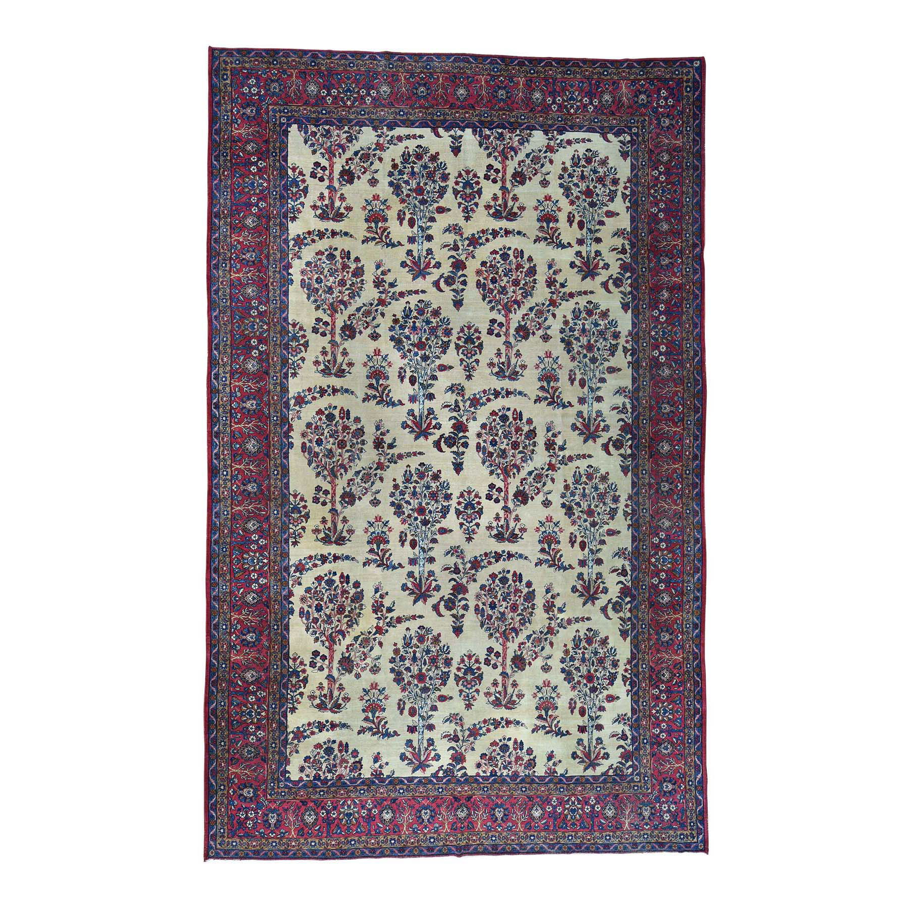 Antique Collection Hand Knotted Ivory Rug No: 0167462