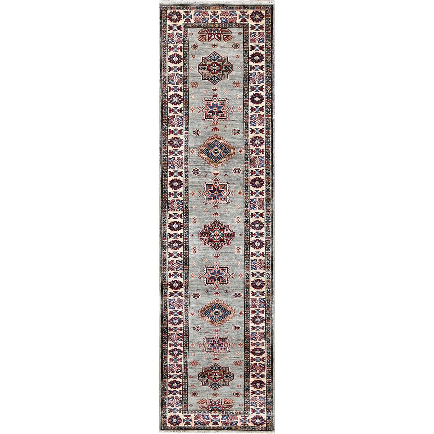 Caucasian Collection Hand Knotted Grey Rug No: 1120578