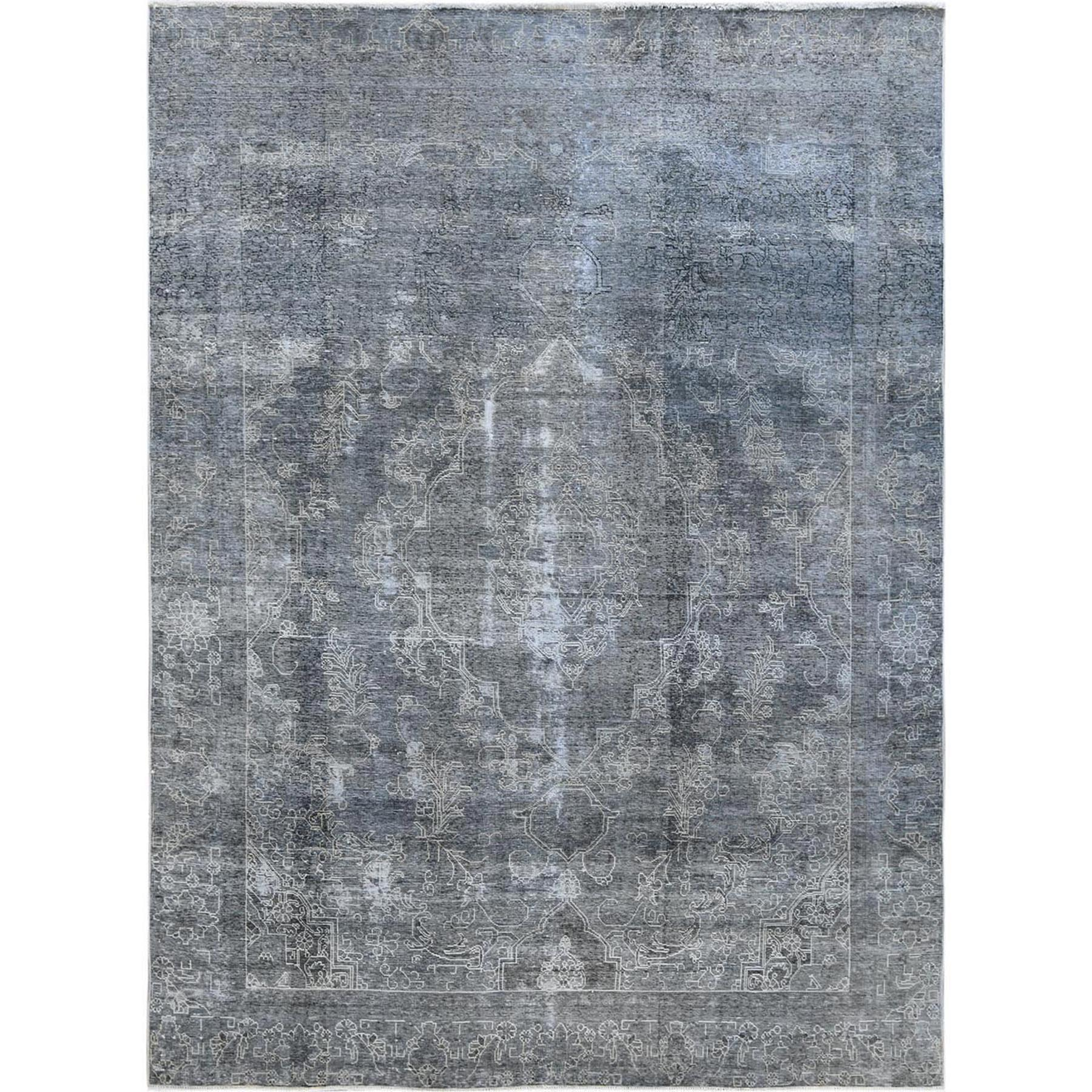 Transitional Collection Hand Knotted Grey Rug No: 1120638