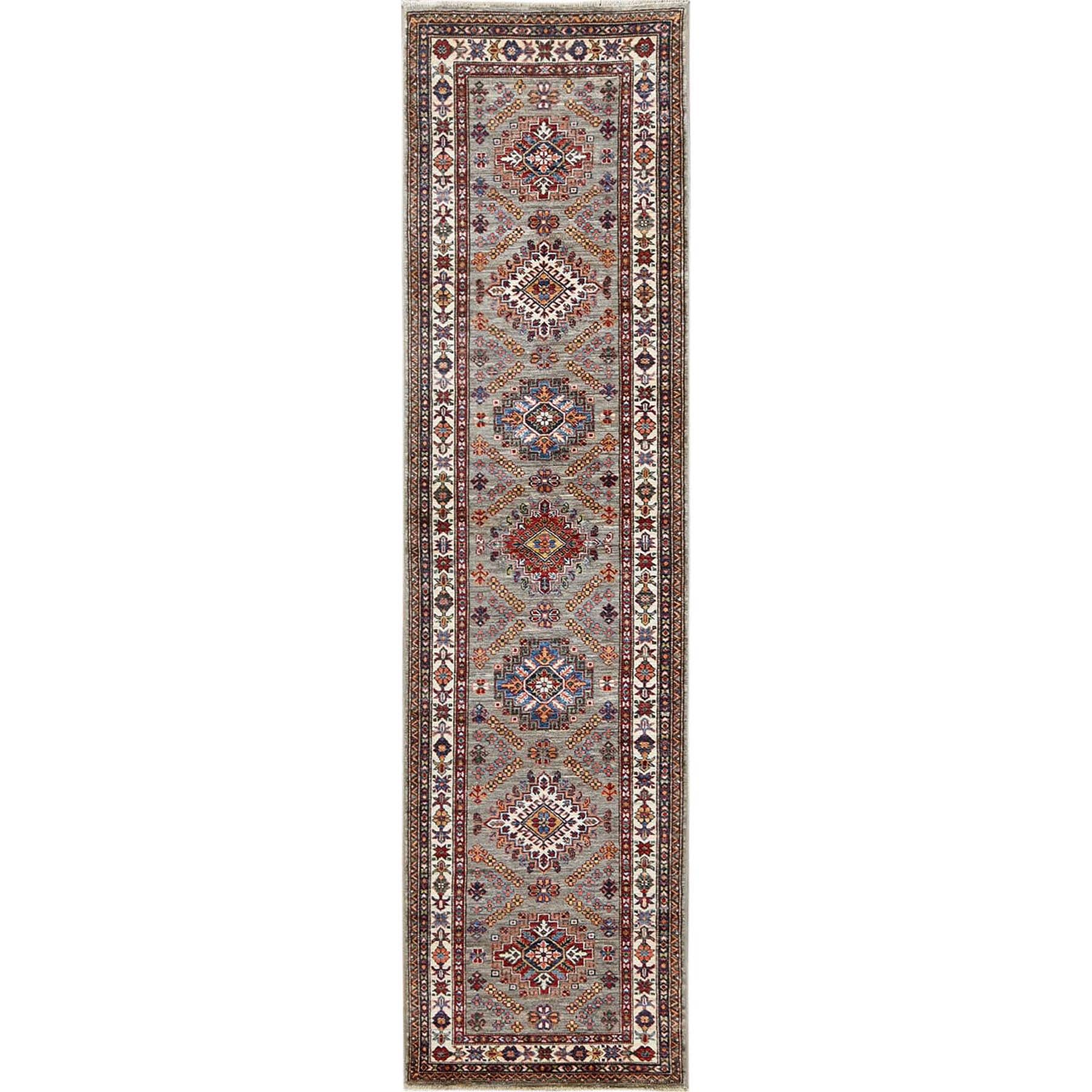 Caucasian Collection Hand Knotted Grey Rug No: 1120584