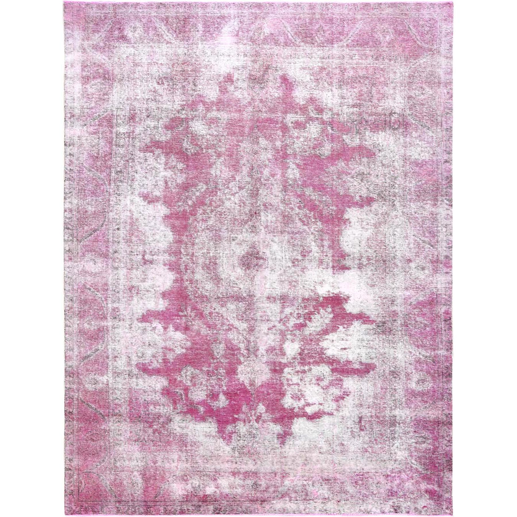 Transitional Collection Hand Knotted Pink Rug No: 1120660