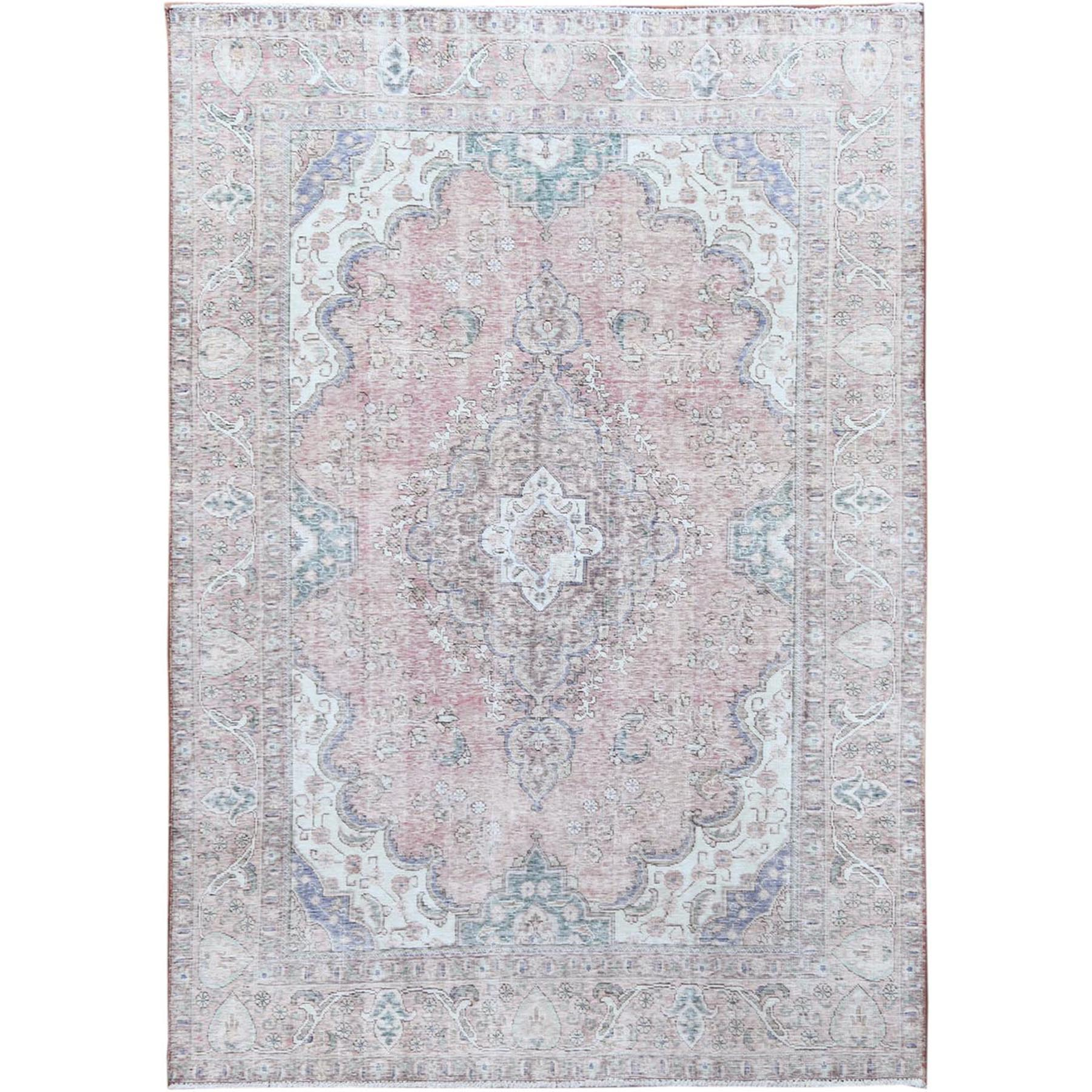 Transitional Collection Hand Knotted Pink Rug No: 1115428