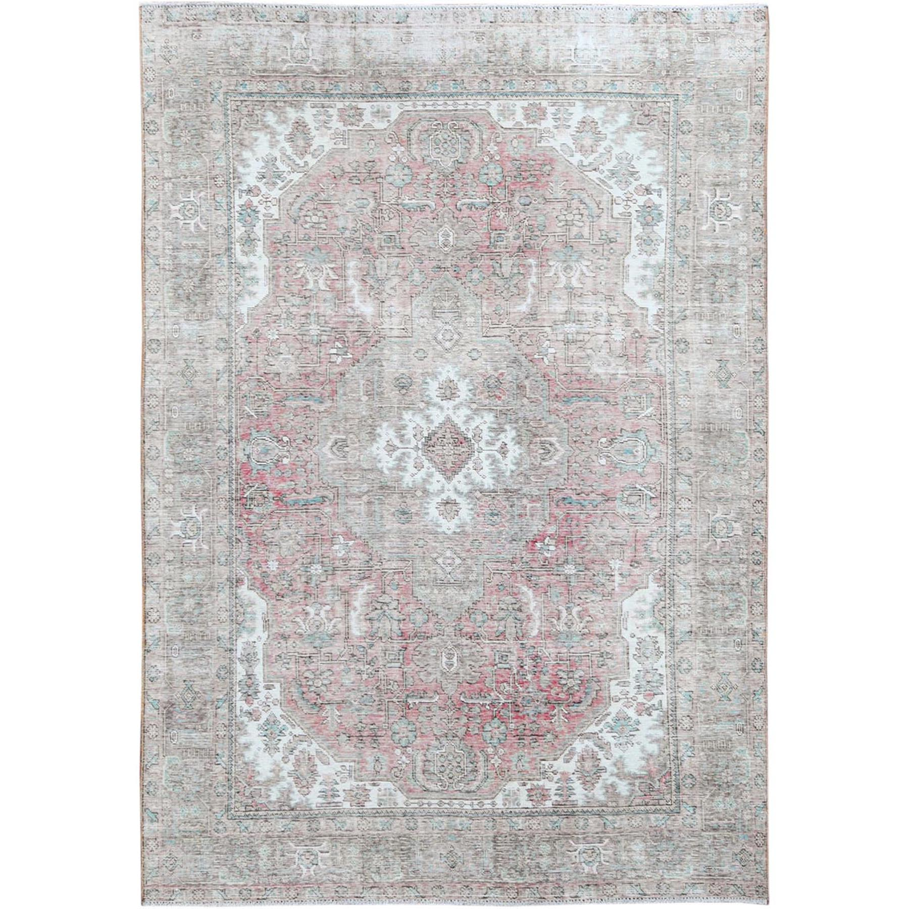Transitional Collection Hand Knotted Pink Rug No: 1115446
