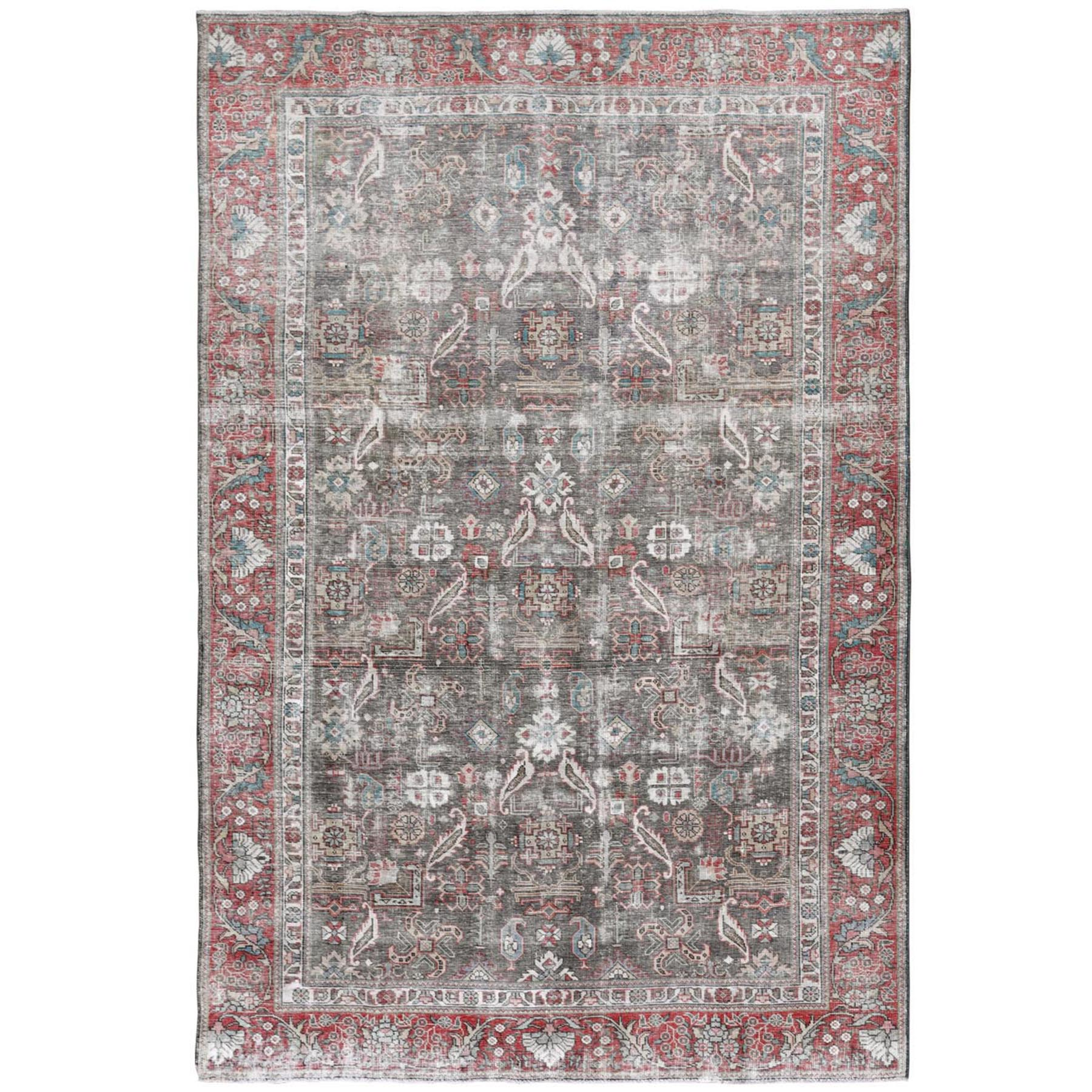 Transitional Collection Hand Knotted Grey Rug No: 1115454