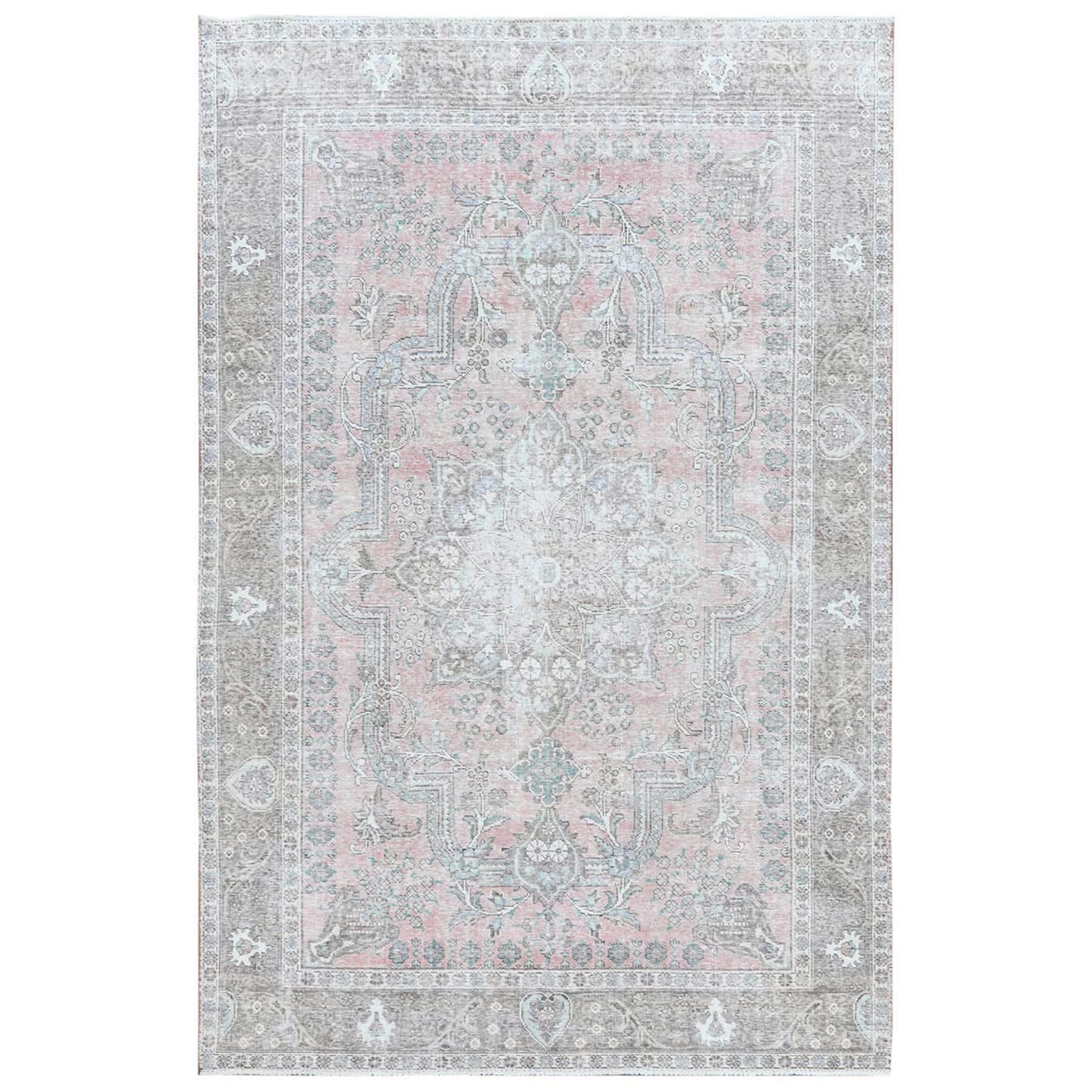 Transitional Collection Hand Knotted Pink Rug No: 1120390