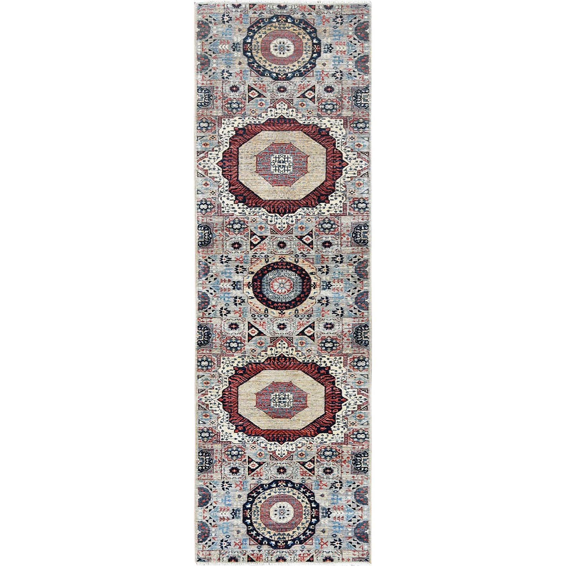 Intricate Collection Hand Knotted Grey Rug No: 1120570