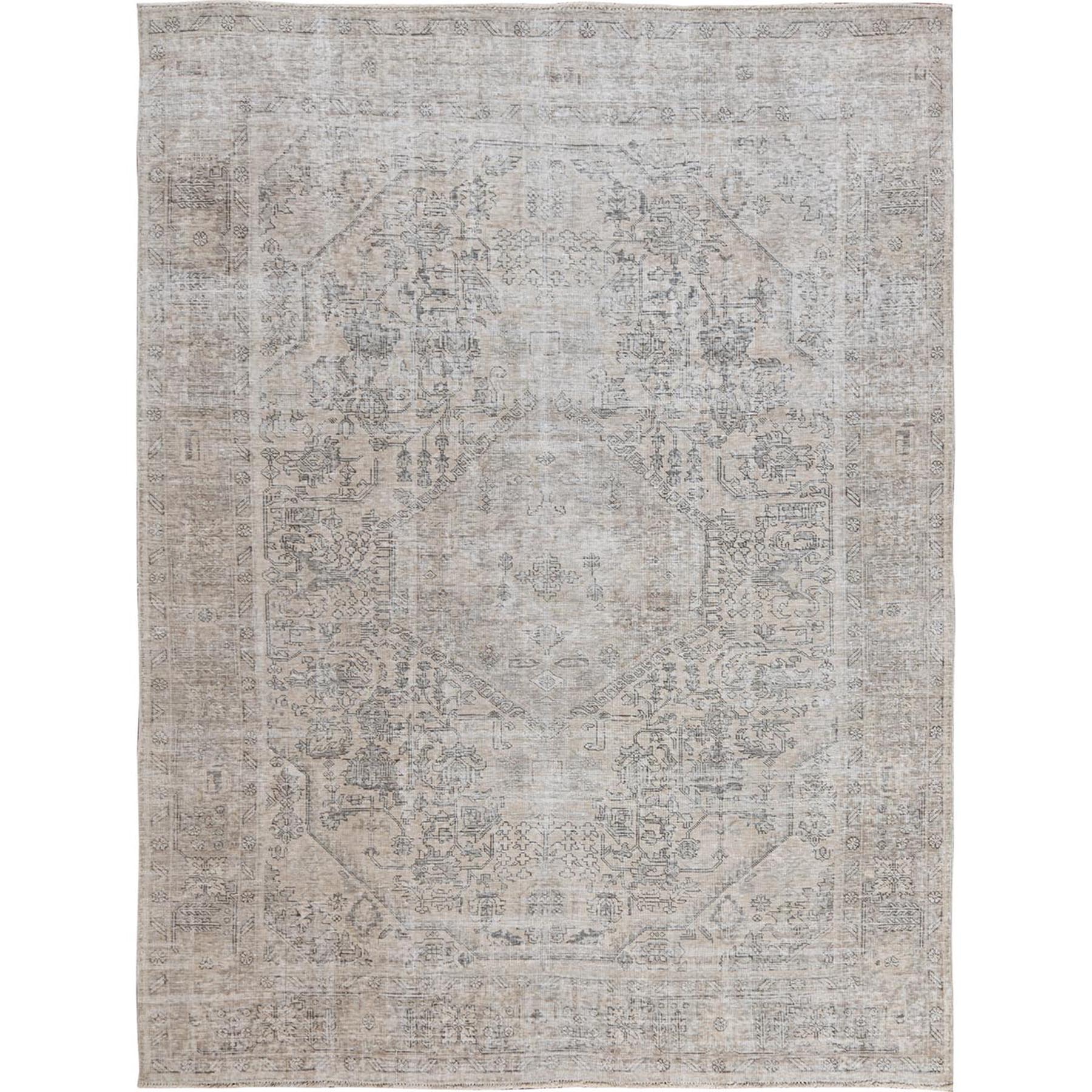 Transitional Collection Hand Knotted Beige Rug No: 1115490