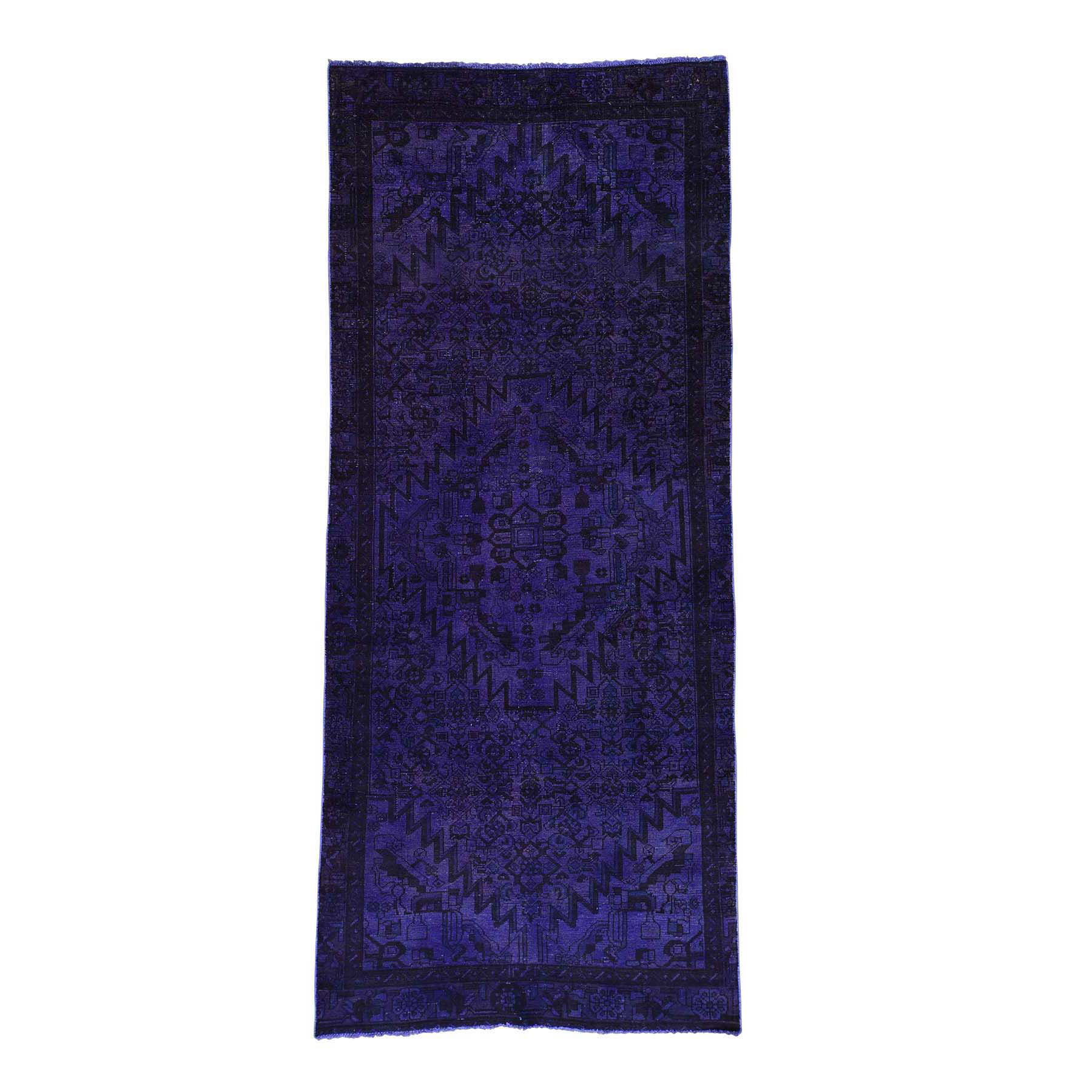Fetneh Collection And Vintage Overdyed Collection Hand Knotted Purple Rug No: 167736