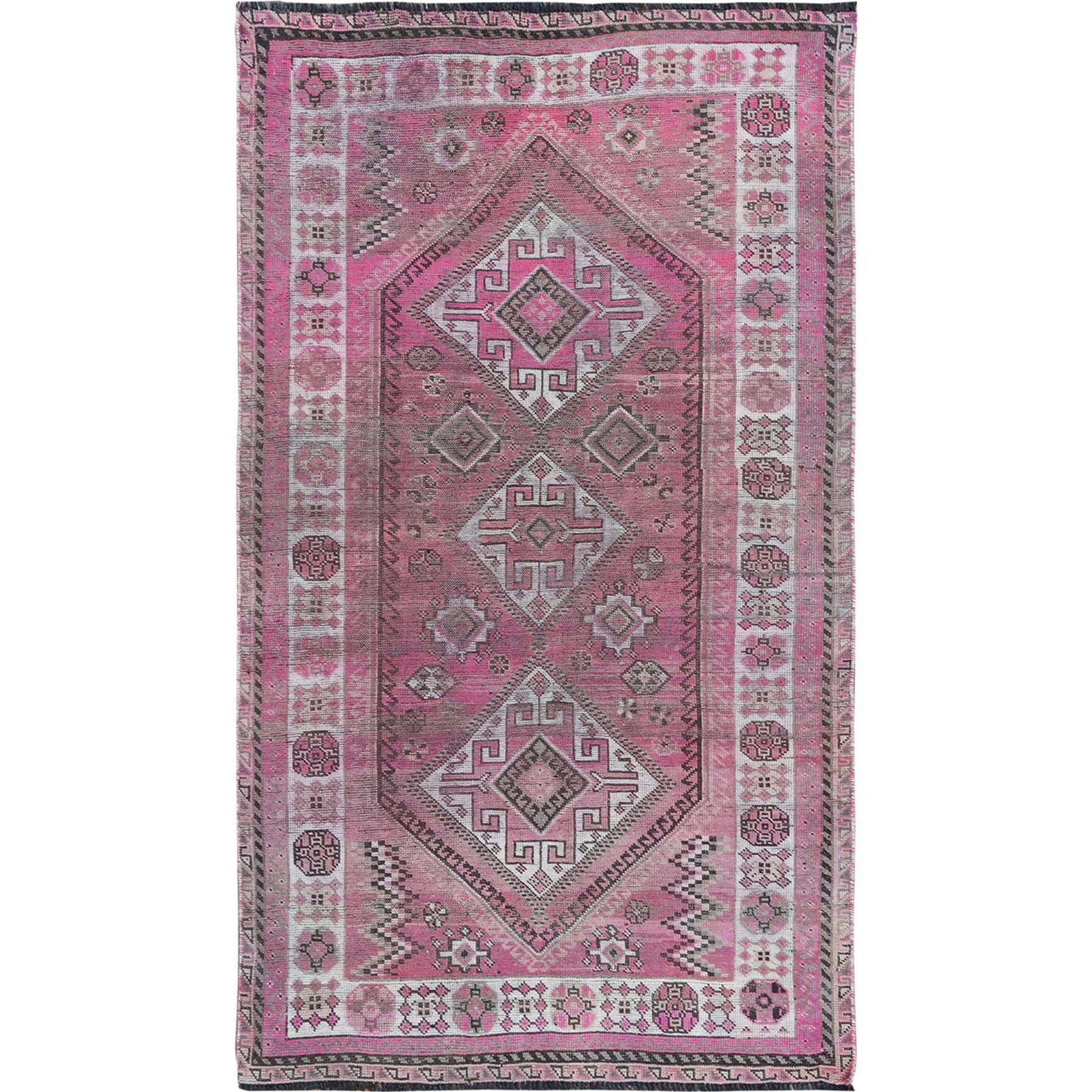 Fetneh Collection And Vintage Overdyed Collection Hand Knotted Pink Rug No: 1115680