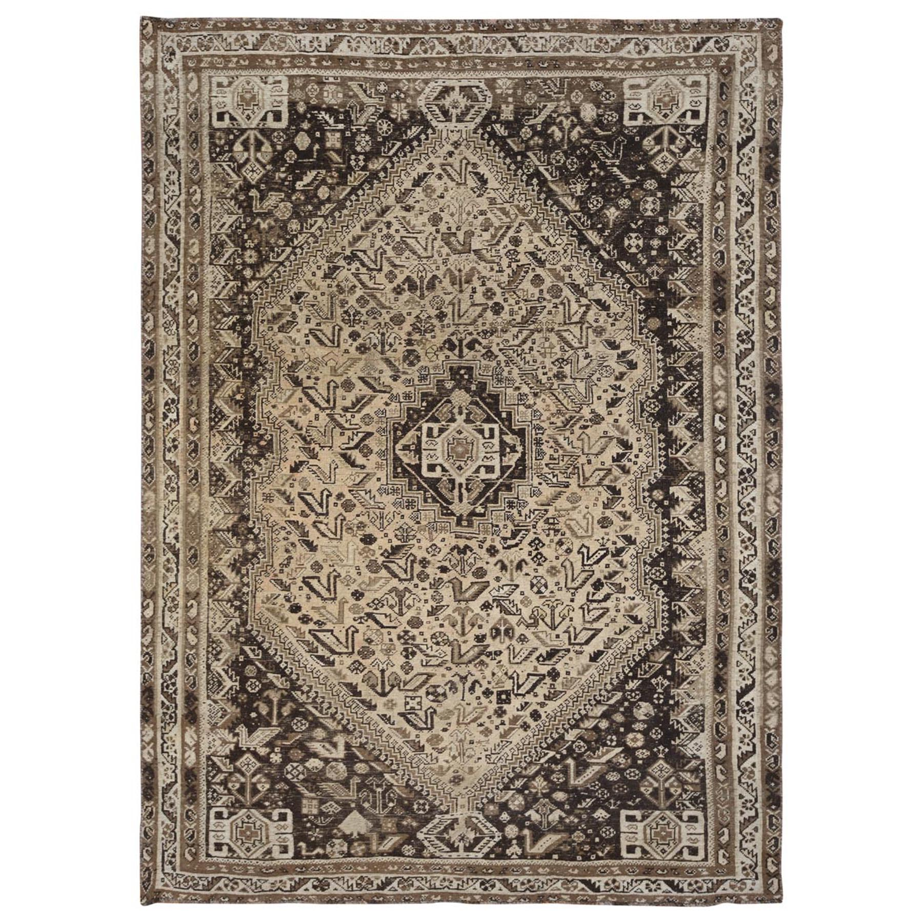 Fetneh Collection And Vintage Overdyed Collection Hand Knotted Grey Rug No: 1115696
